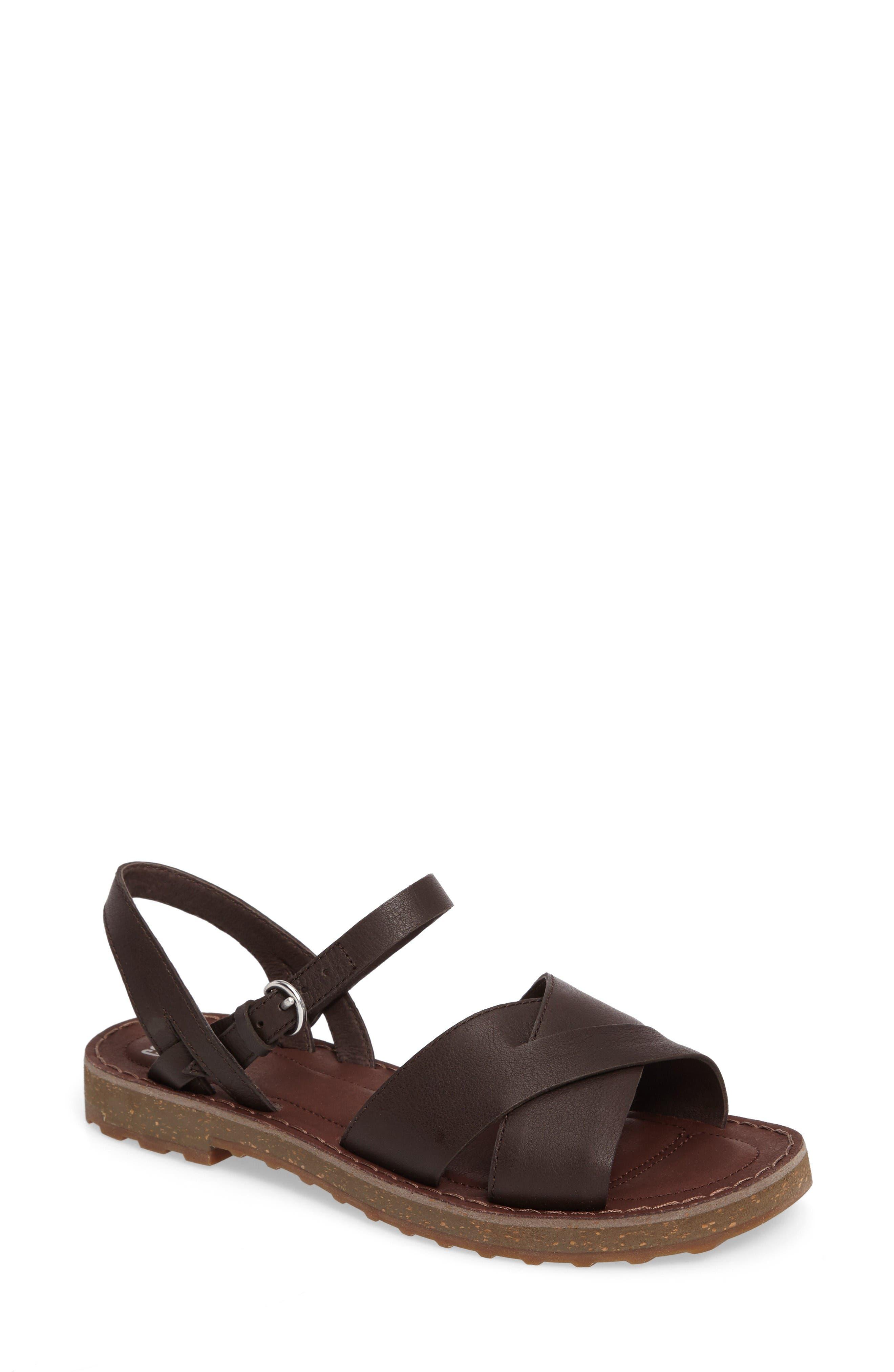 CAMPER Pimpom Strappy Sandal