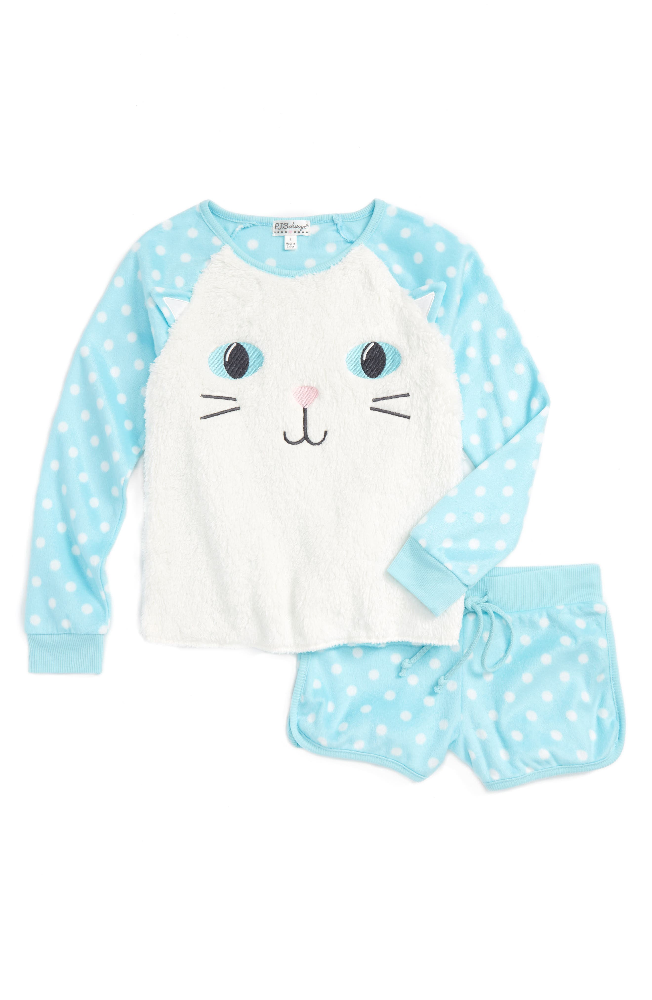 Alternate Image 1 Selected - PJ Salvage Two-Piece Pajamas (Little Girls & Big Girls)