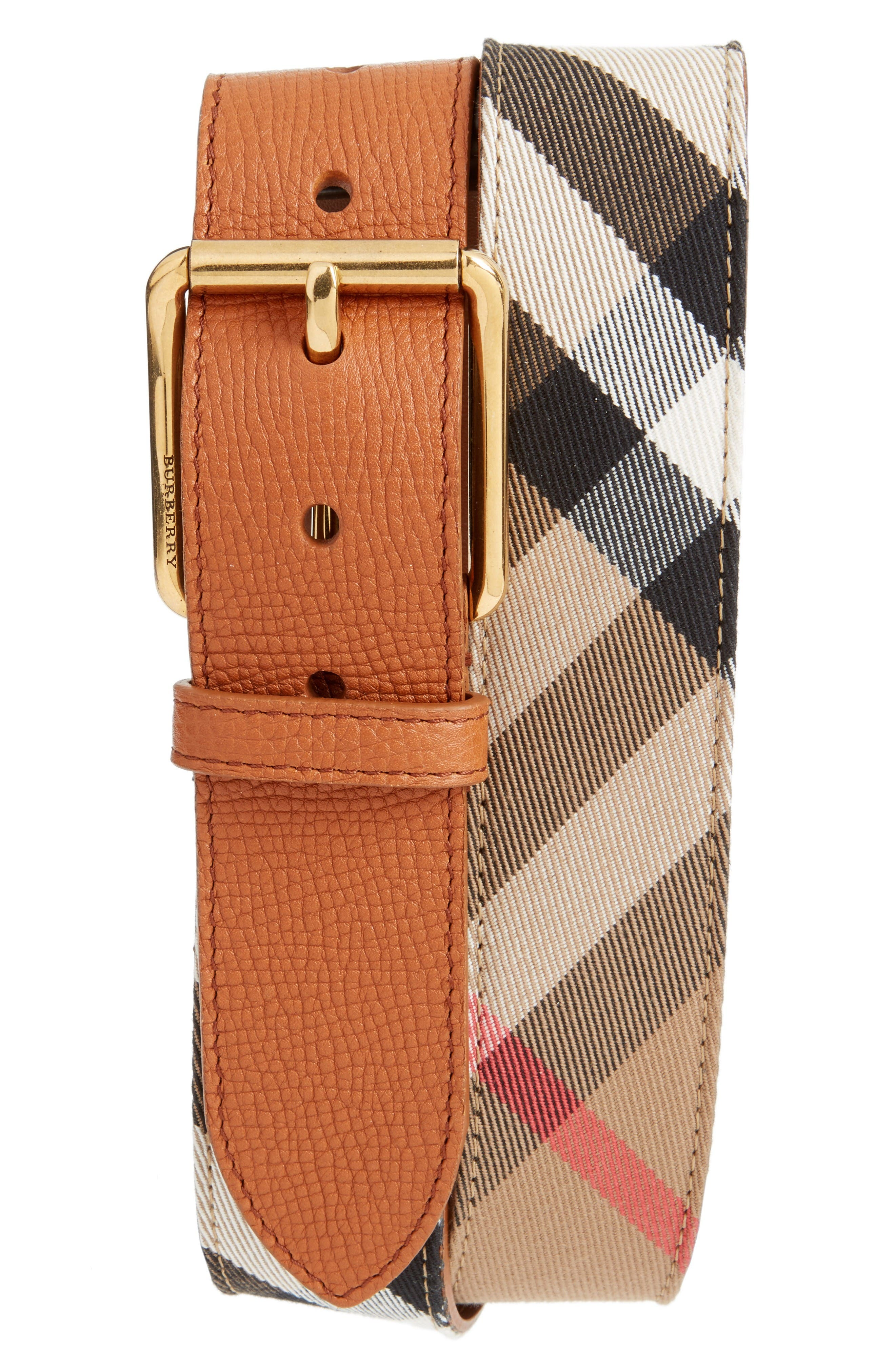 Burberry House Check Belt