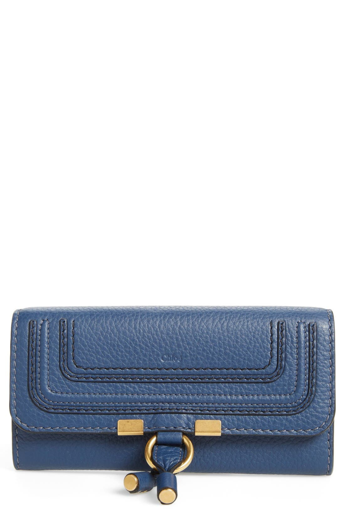Alternate Image 1 Selected - Chloé 'Marcie - Long' Leather Flap Wallet