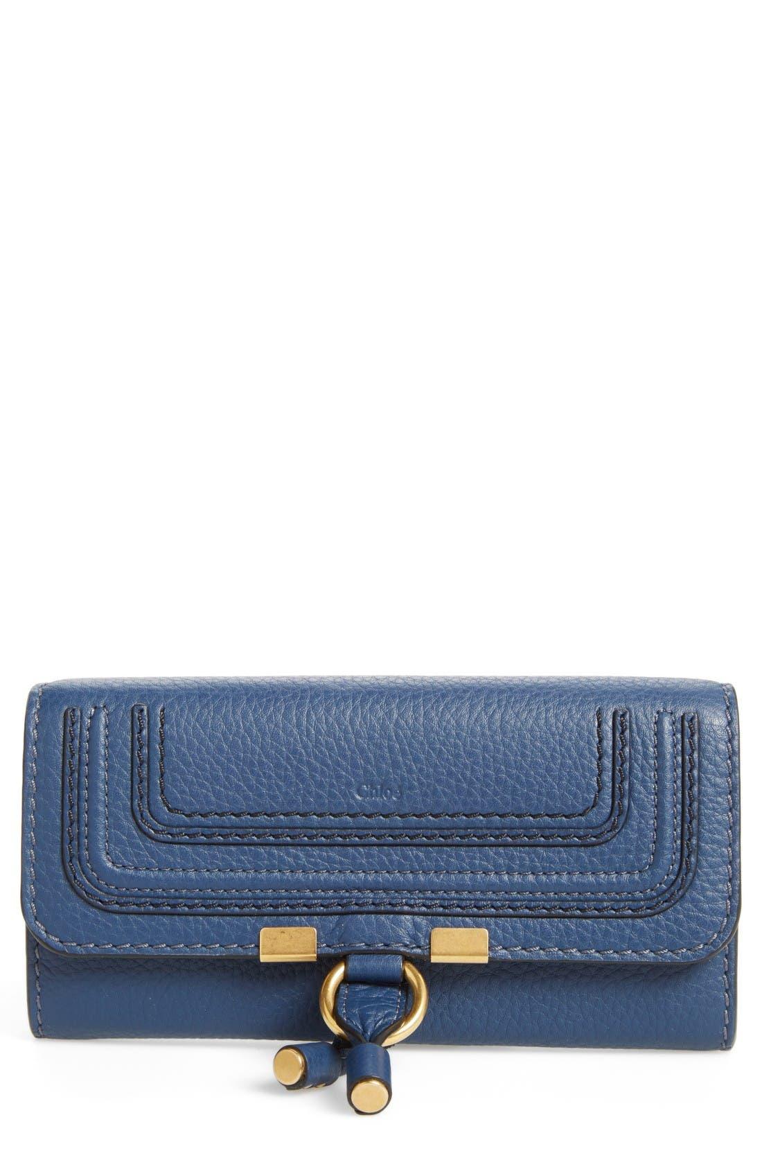 Main Image - Chloé 'Marcie - Long' Leather Flap Wallet