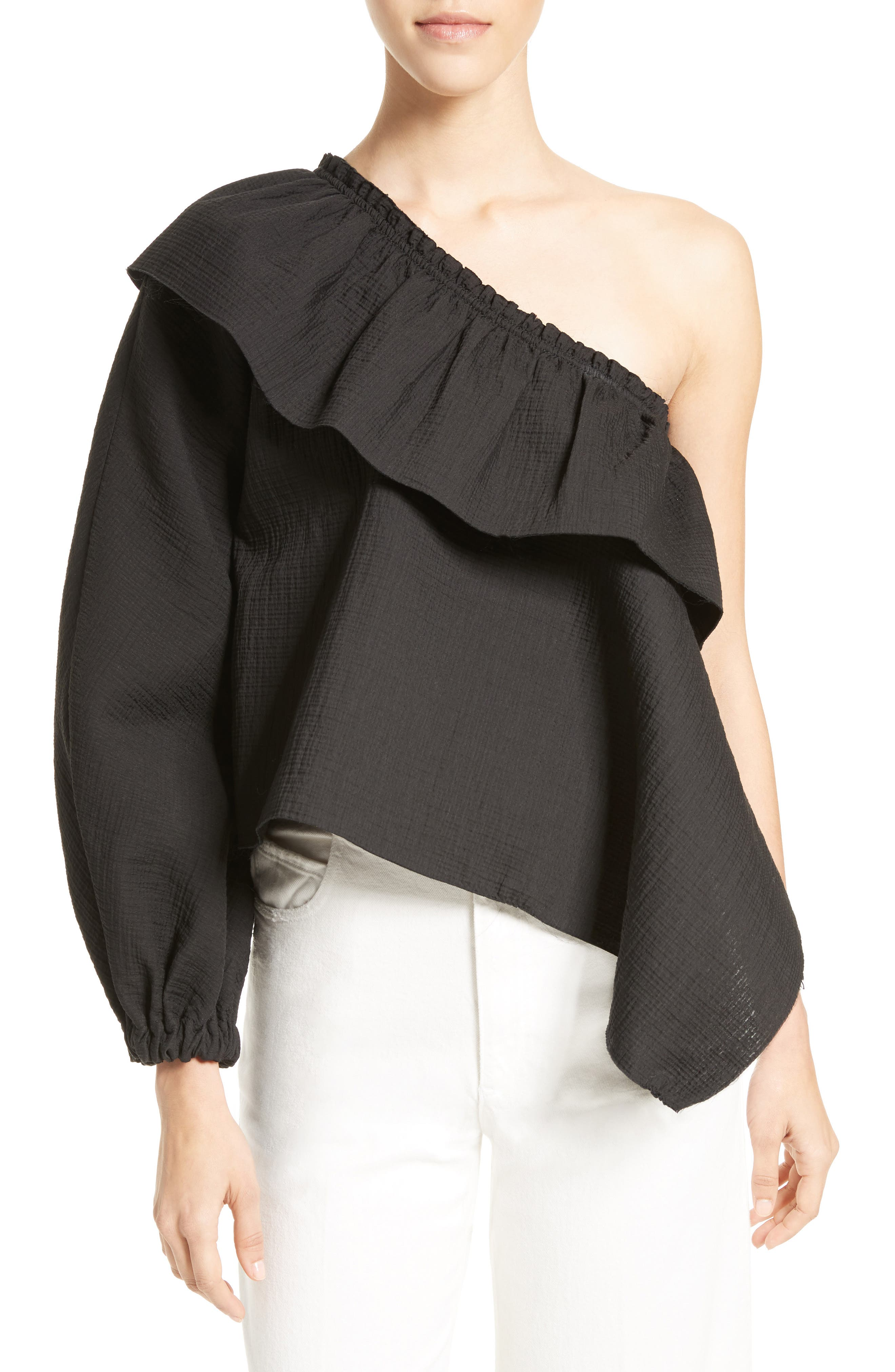 RACHEL COMEY Georgia One-Shoulder Top