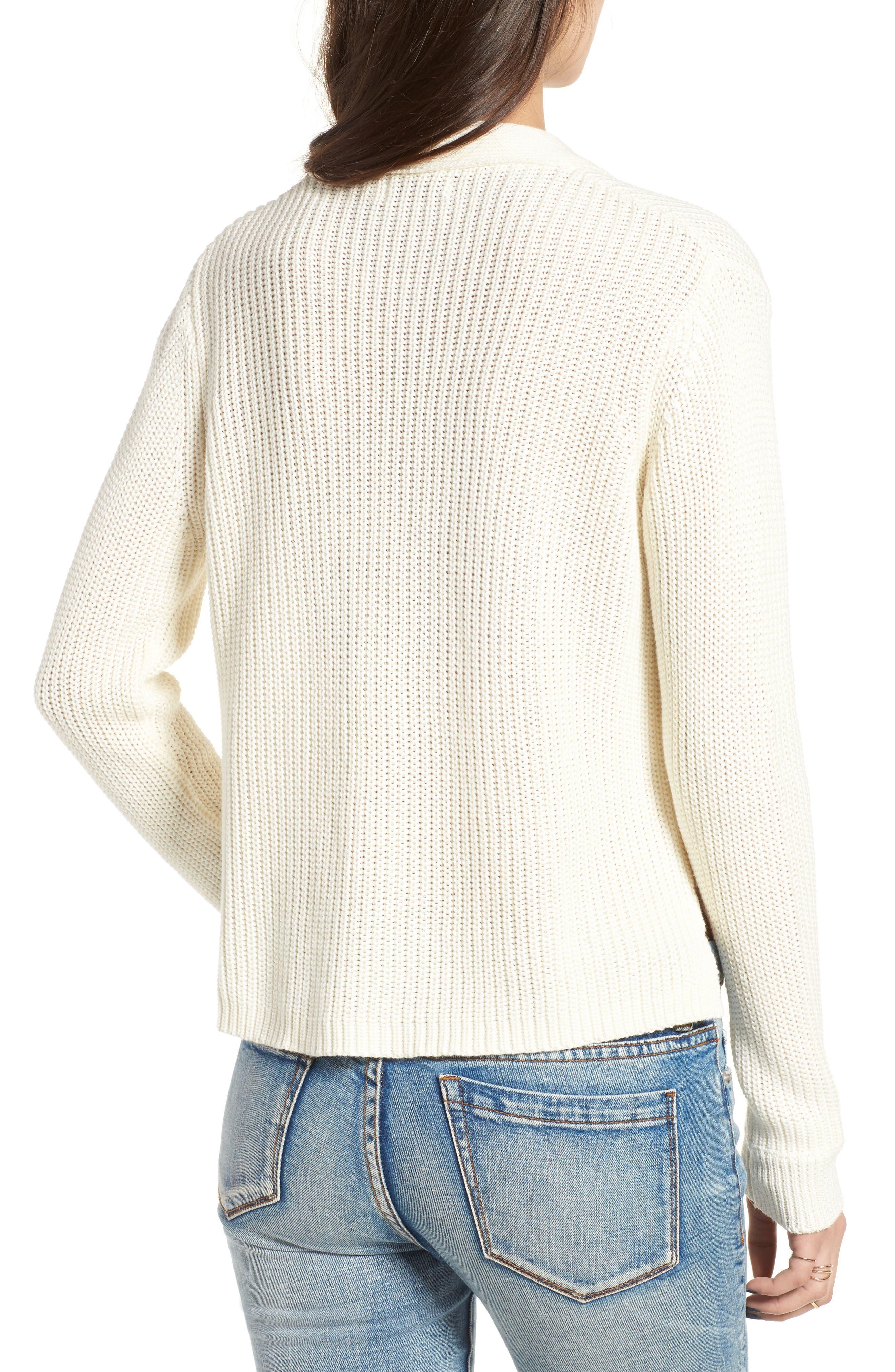 Alternate Image 2  - Lush Lace-Up Sweater