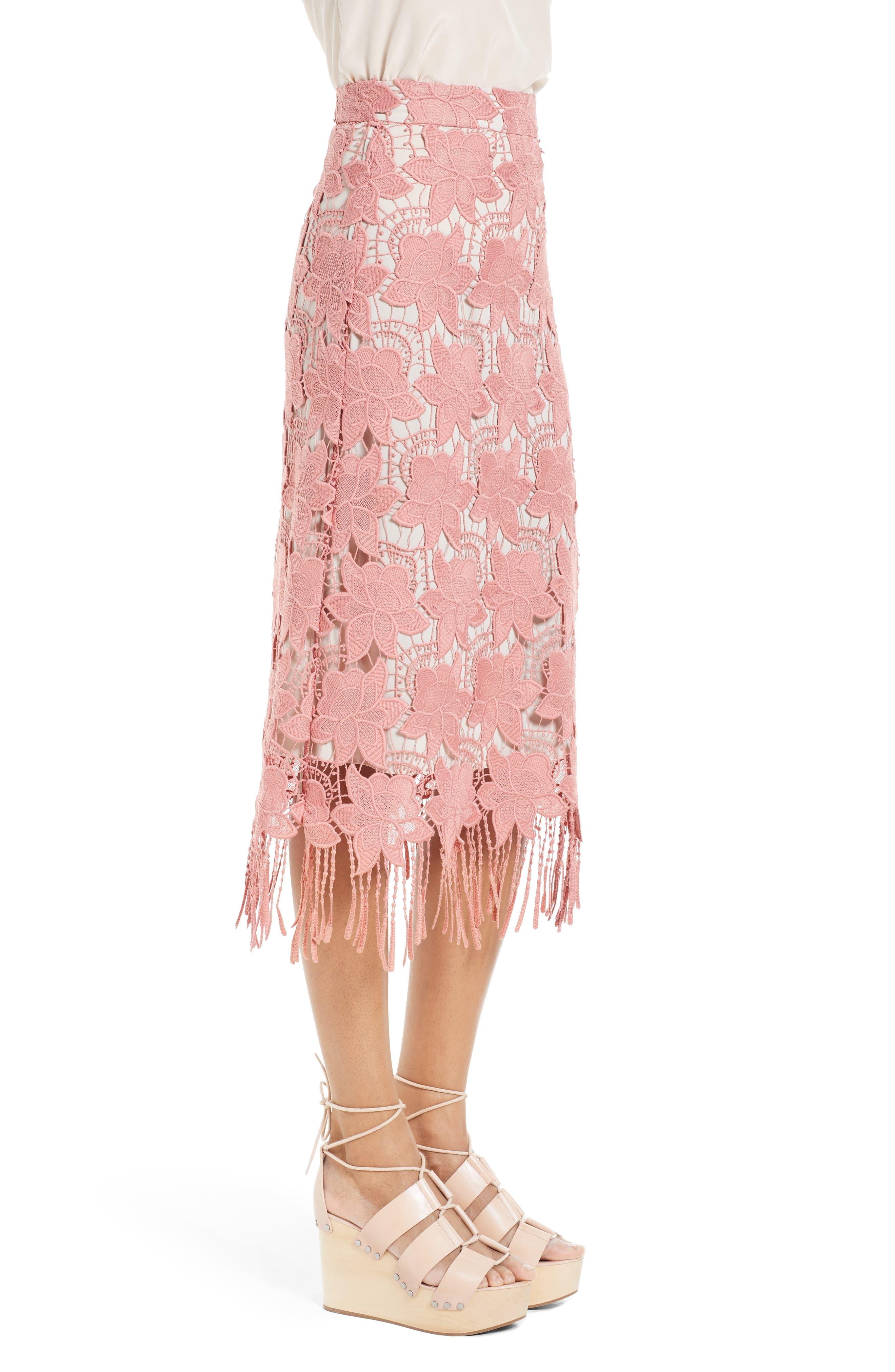 Alternate Image 3  - Alice + Olivia Strand Lace Pencil Skirt
