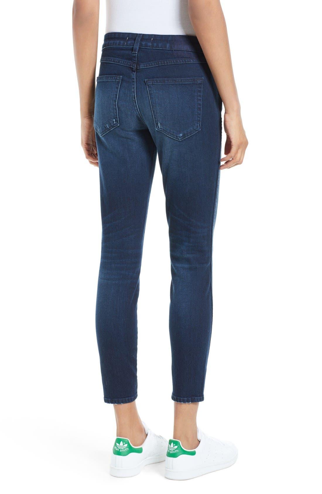 Alternate Image 2  - AMO 'Twist' Crop Skinny Jeans (Eclipse)
