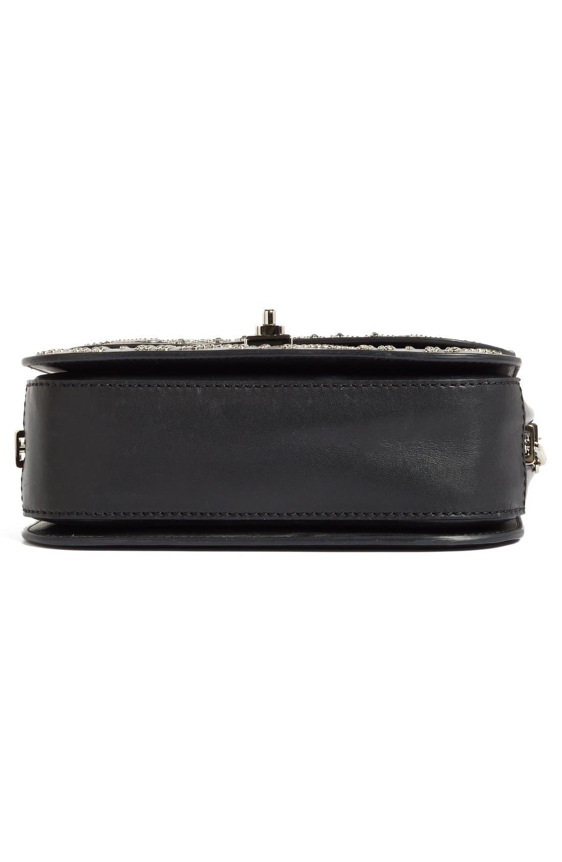 Alternate Image 5  - Valentino Love Blade Embroidered Calfskin Leather Shoulder Bag