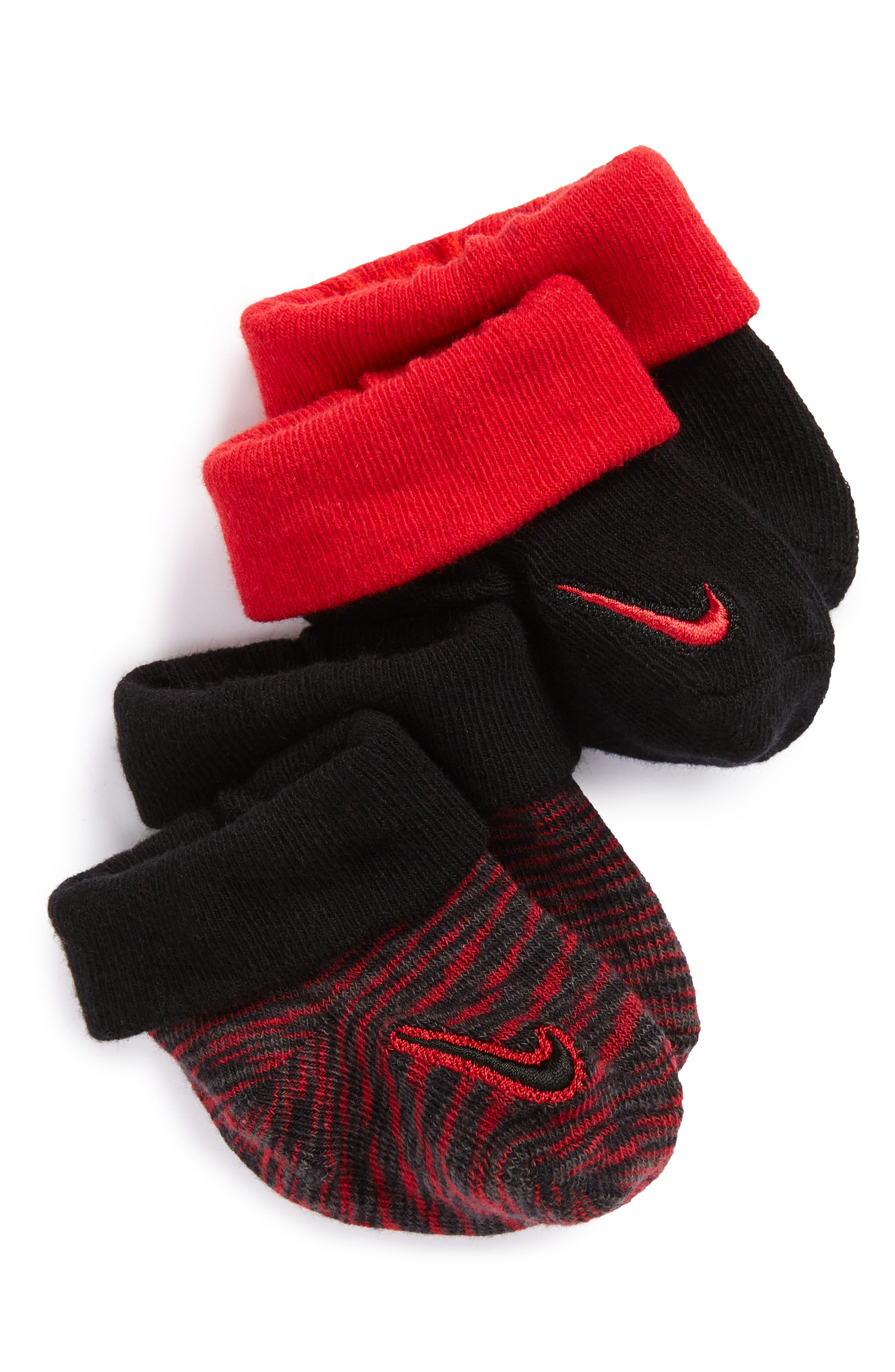 Nike Baby 2-Pack Bootie Socks (Baby)