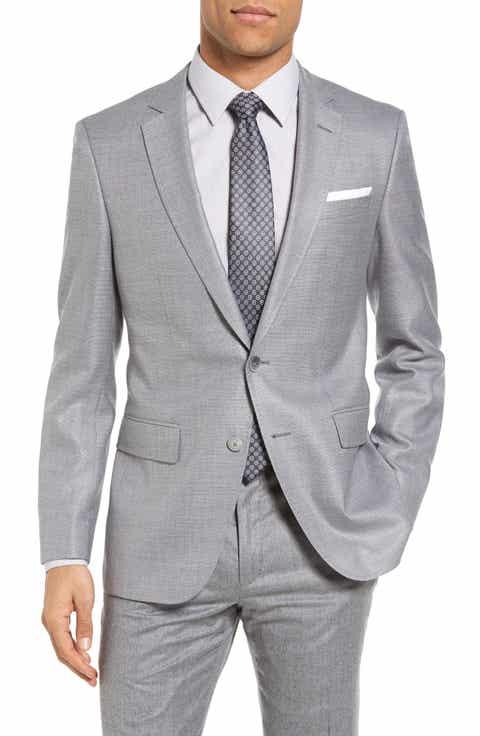 BOSS Hutsons Trim Fit Wool   Silk Blazer