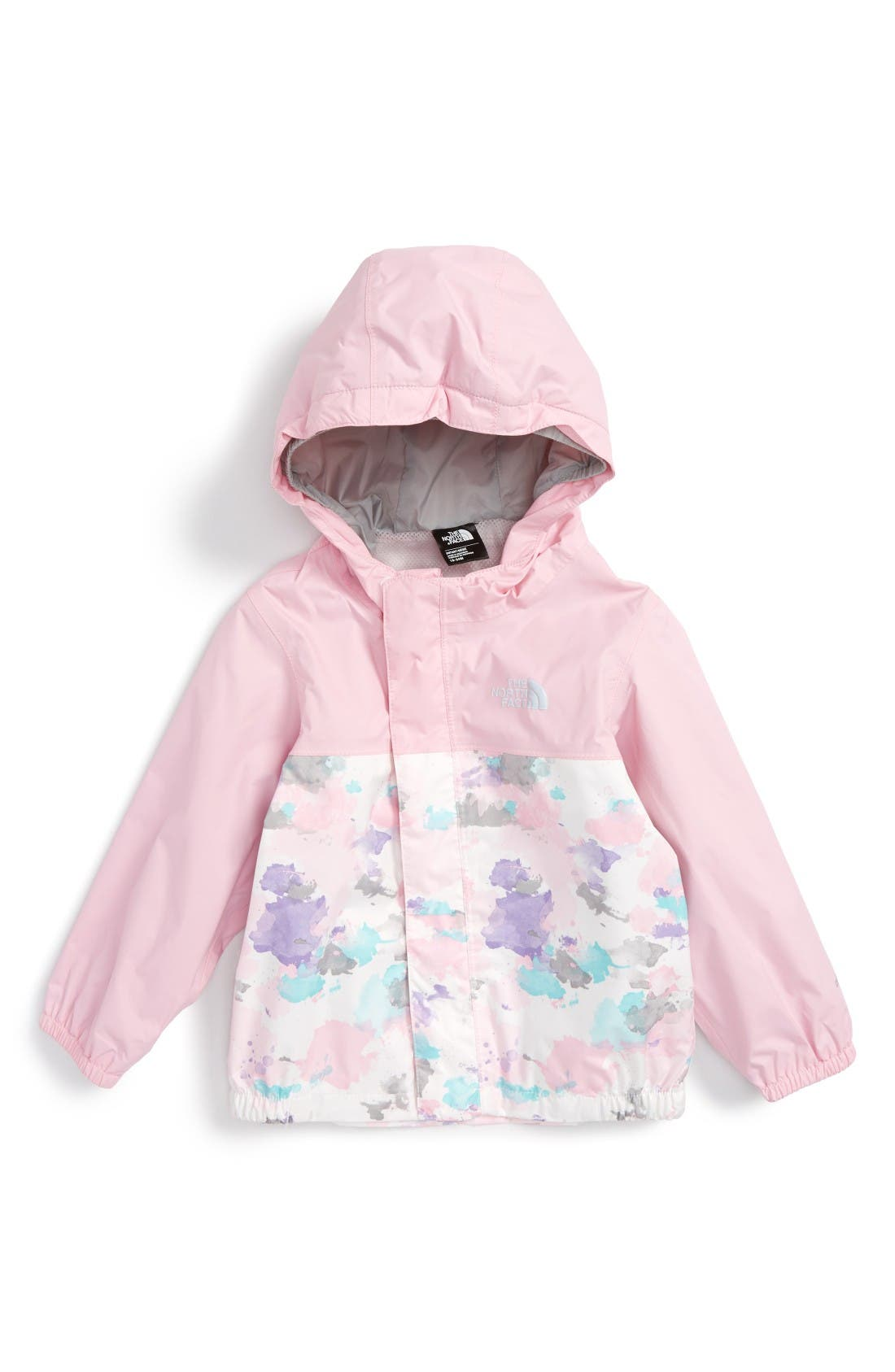 The North Face 'Tailout' Hooded Rain Jacket (Baby Girls)