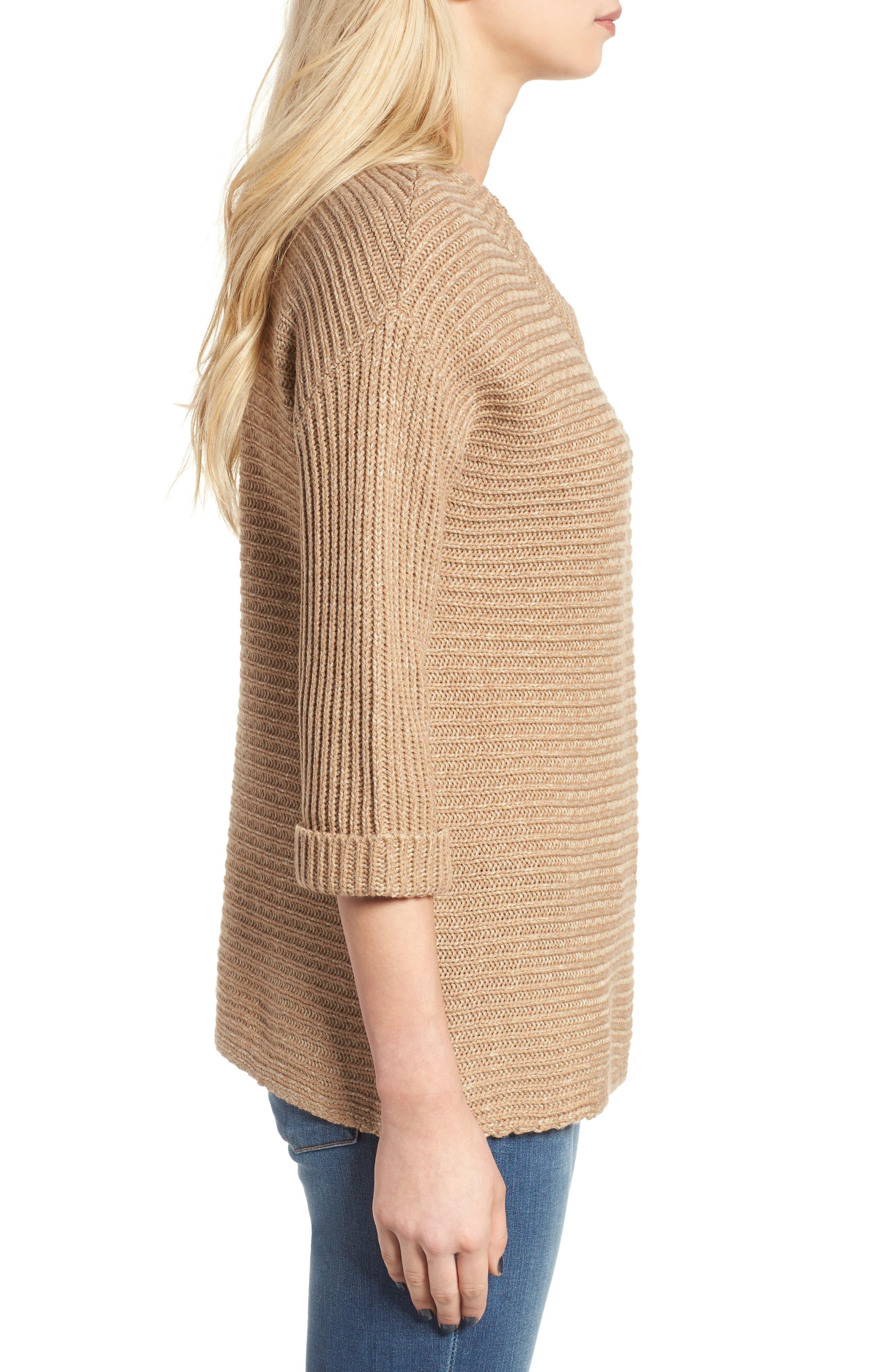 Alternate Image 3  - Cotton Emporium Texture Knit Pullover