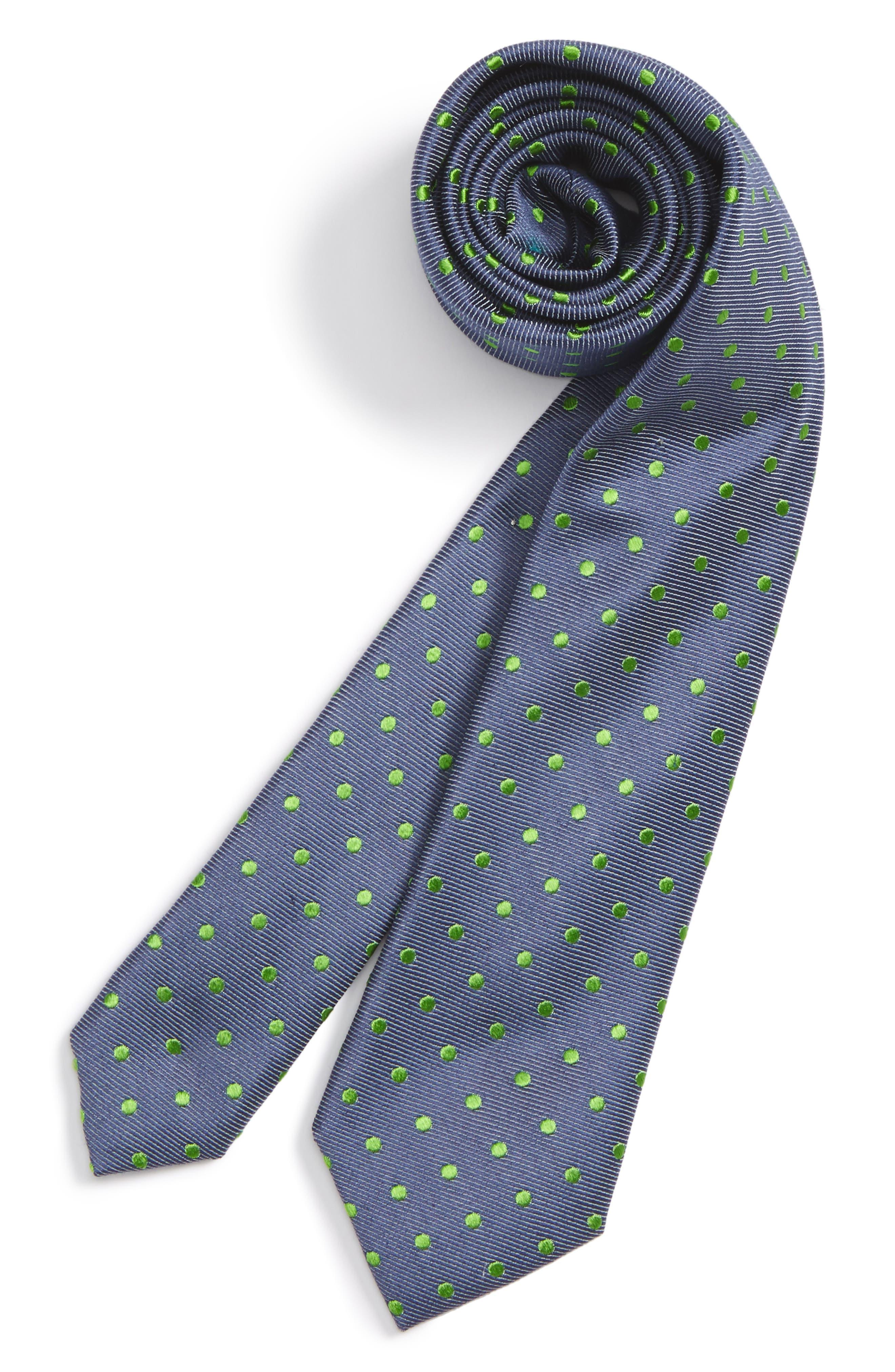 NORDSTROM Dot Silk & Cotton Tie