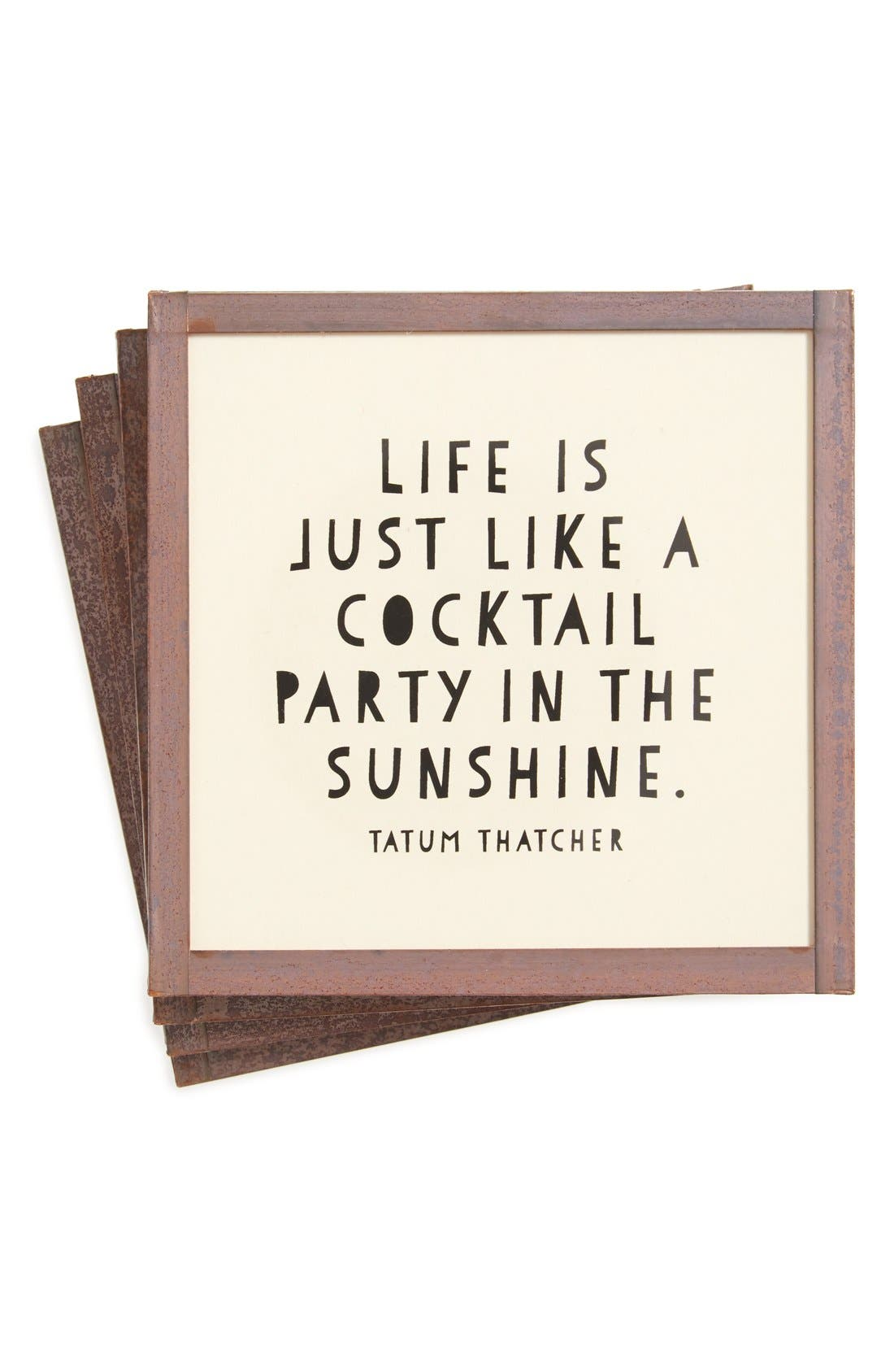 Main Image - Ben's Garden 'Life Is Like a Cocktail Party' Coasters (Set of 4)