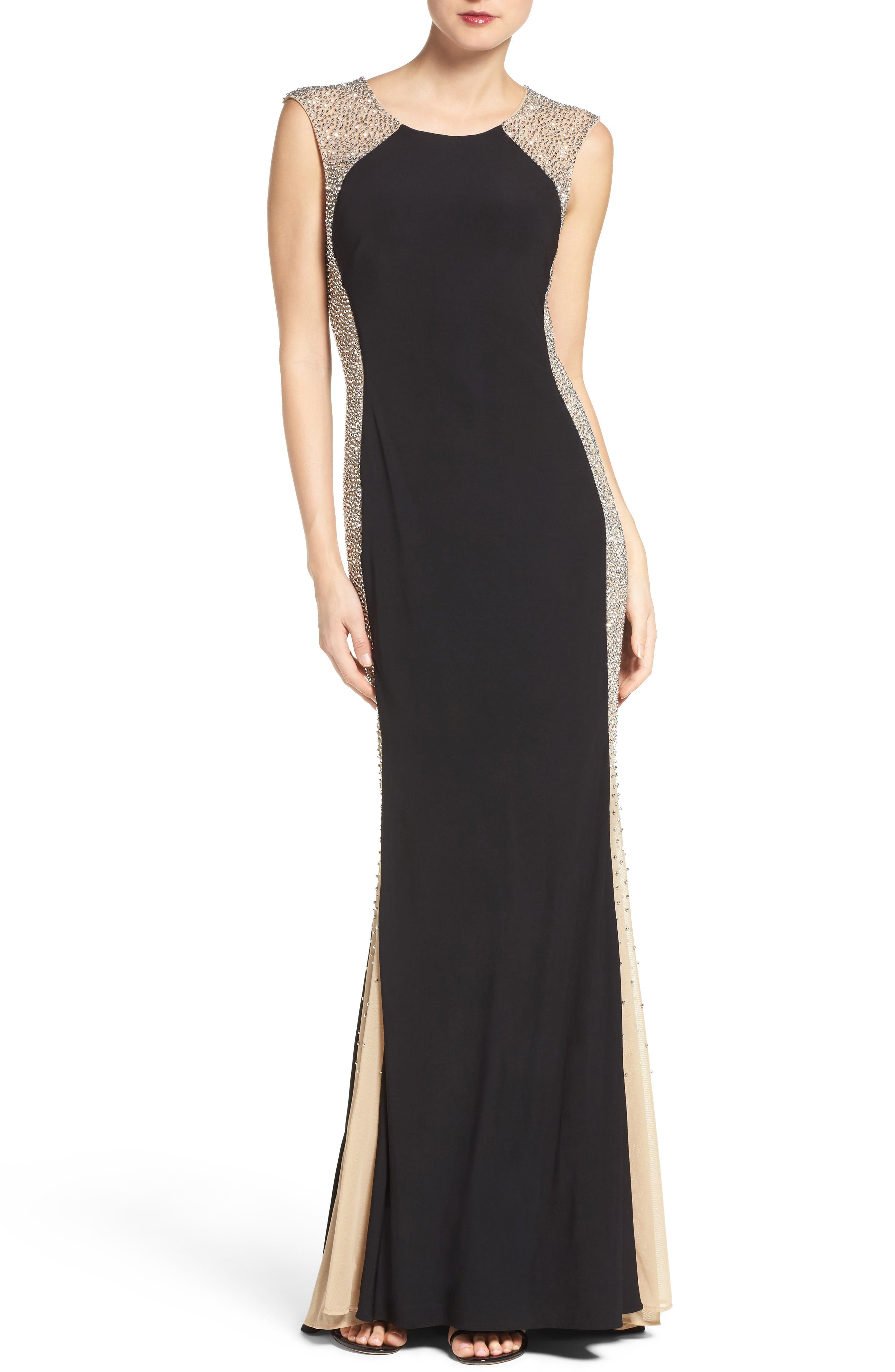 Xscape Beaded Gown (Regular & Petite)
