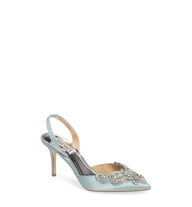 Bridal Shoes At Nordstrom: Badgley Mischka Barnes Crystal Embellished Slingback Pump