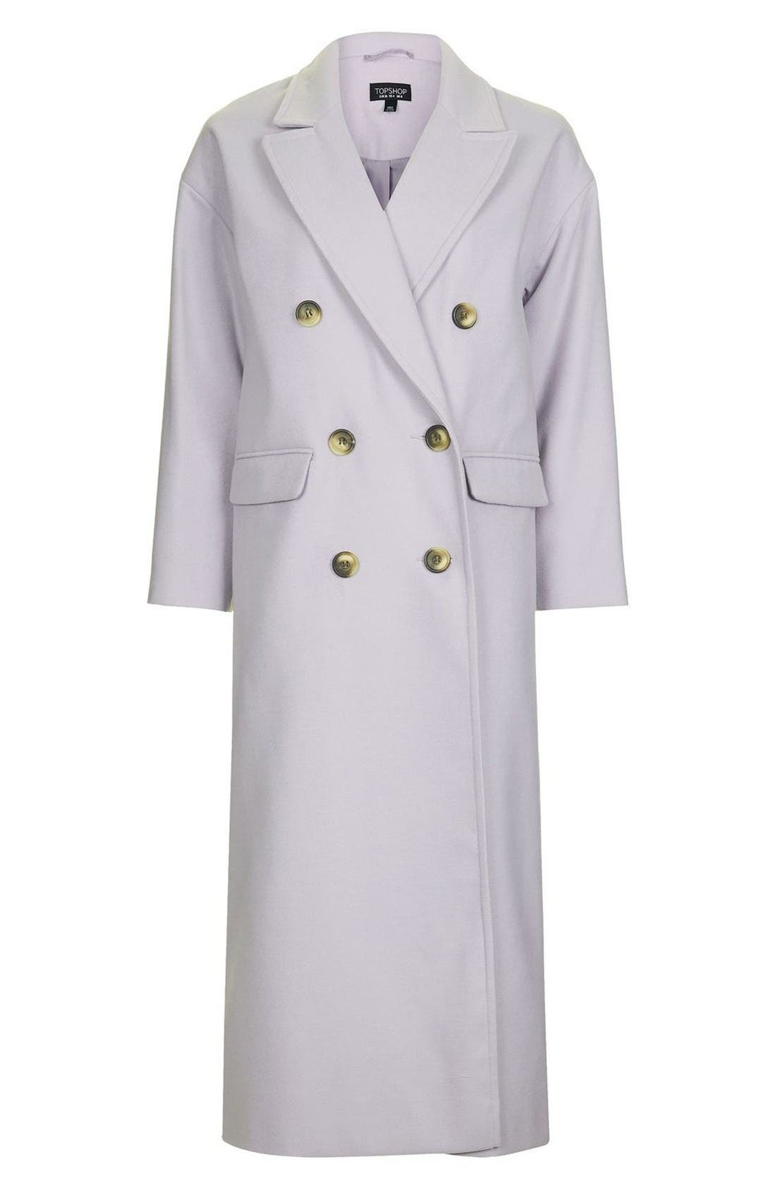 Alternate Image 4  - Topshop Double Breasted Coat