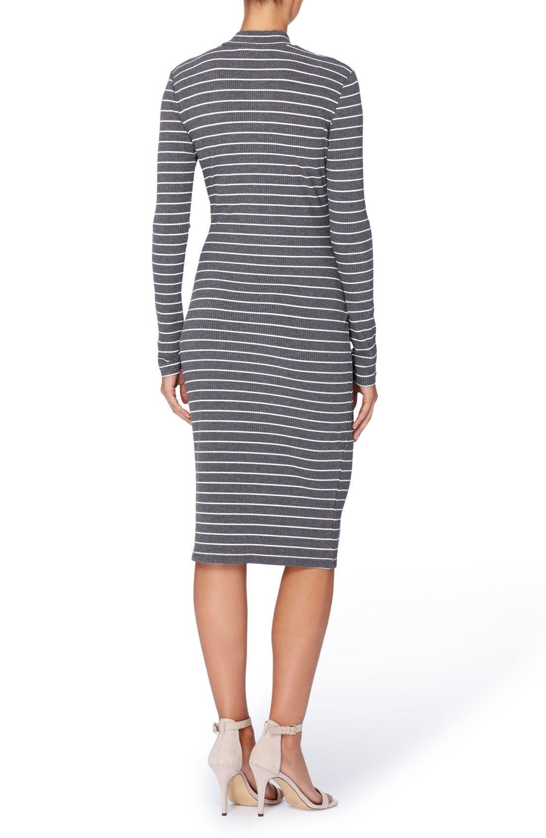 Alternate Image 2  - Catherine Catherine Malandrino Kristiana Stripe Knit Midi Dress