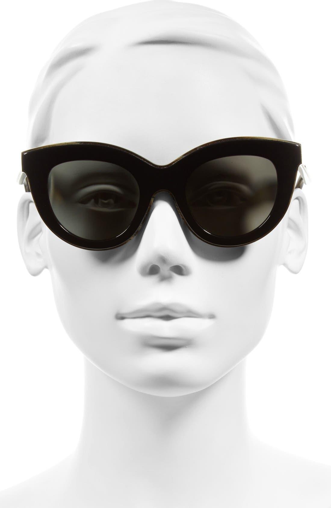 Alternate Image 2  - Victoria Beckham 49mm Cat Eye Sunglasses