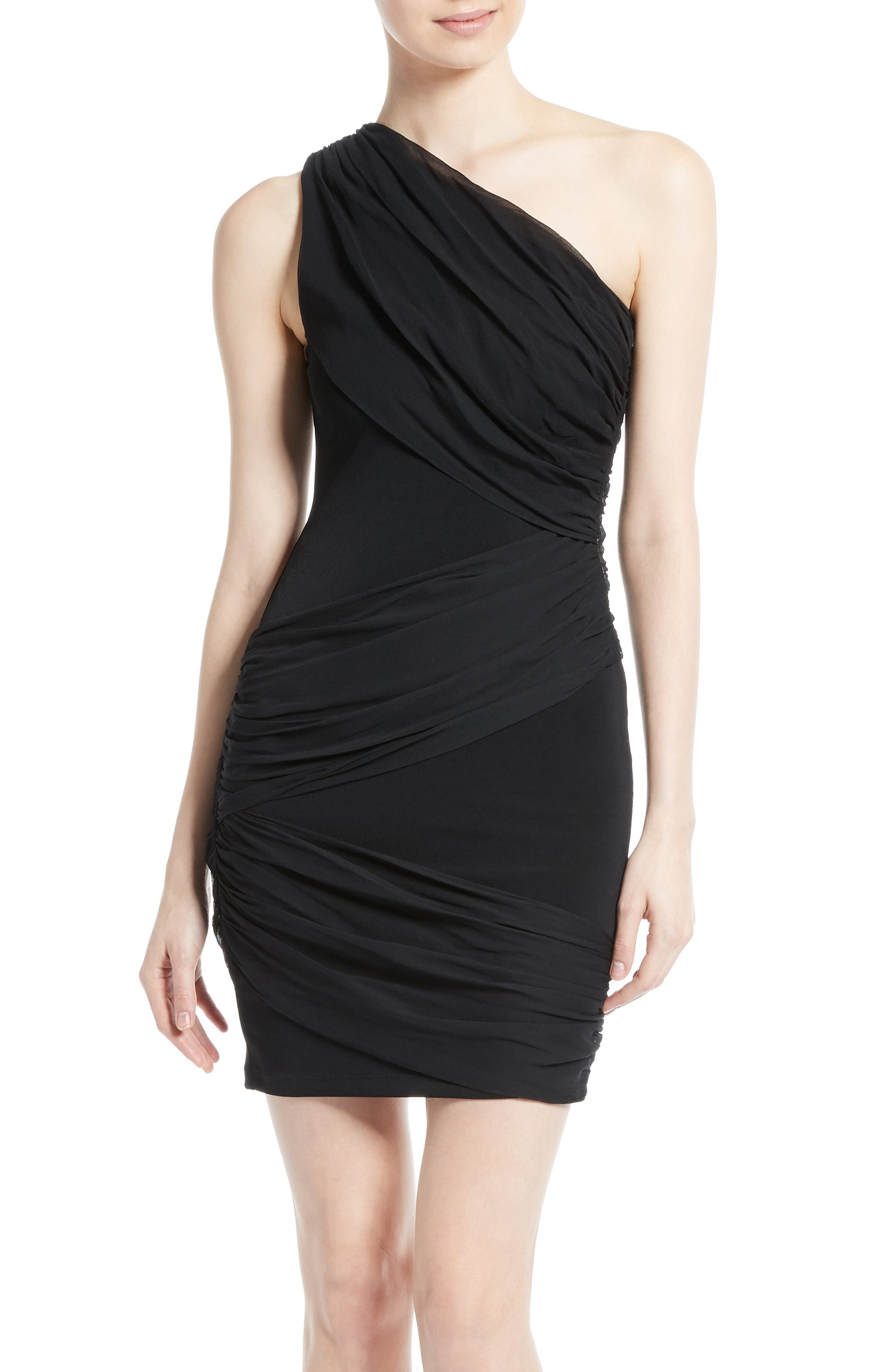ALICE + OLIVIA Cici One-Shoulder Goddess Dress