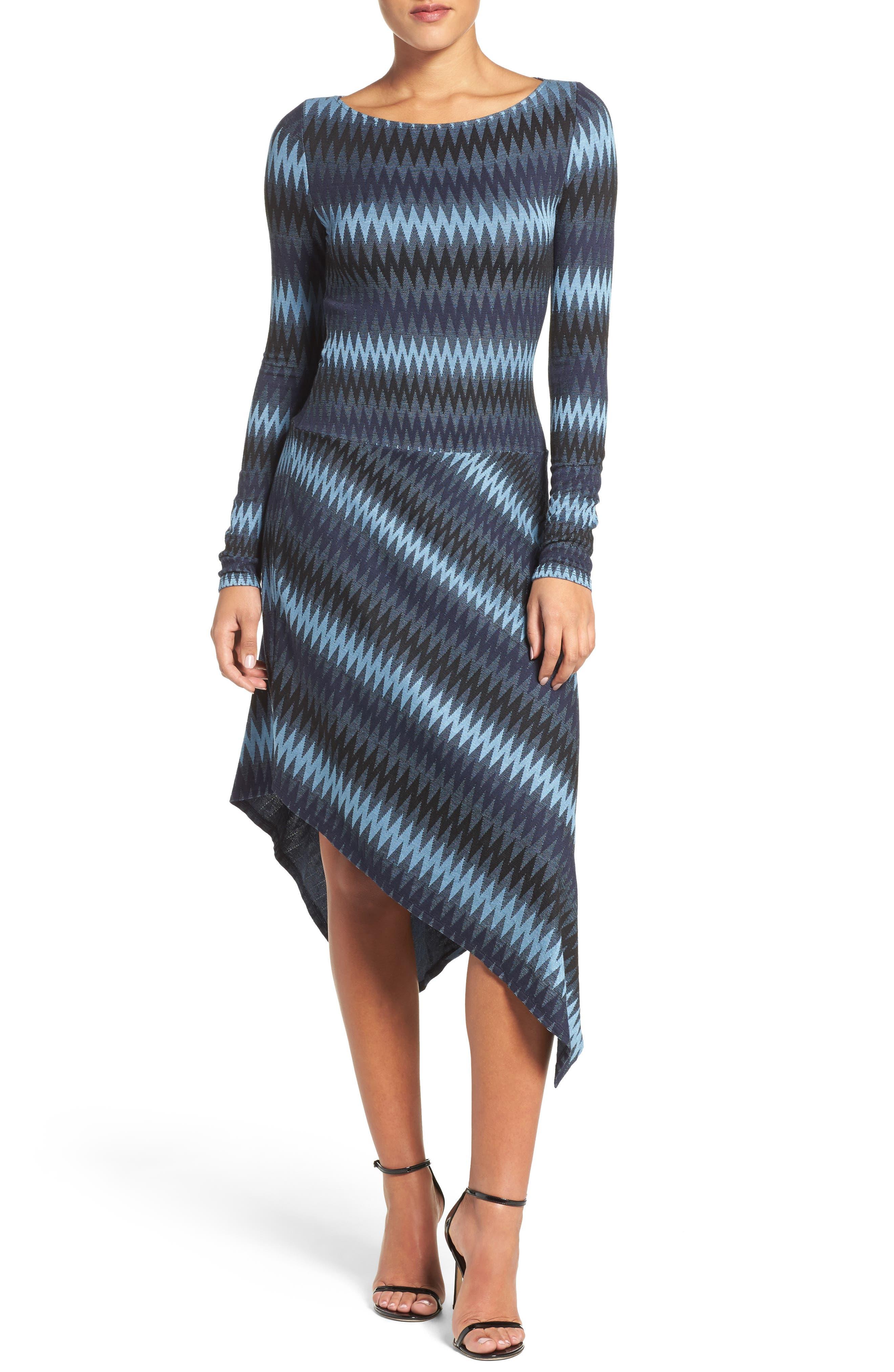 Main Image - BCBGMAXAZRIA Asymmetrical Knit Dress