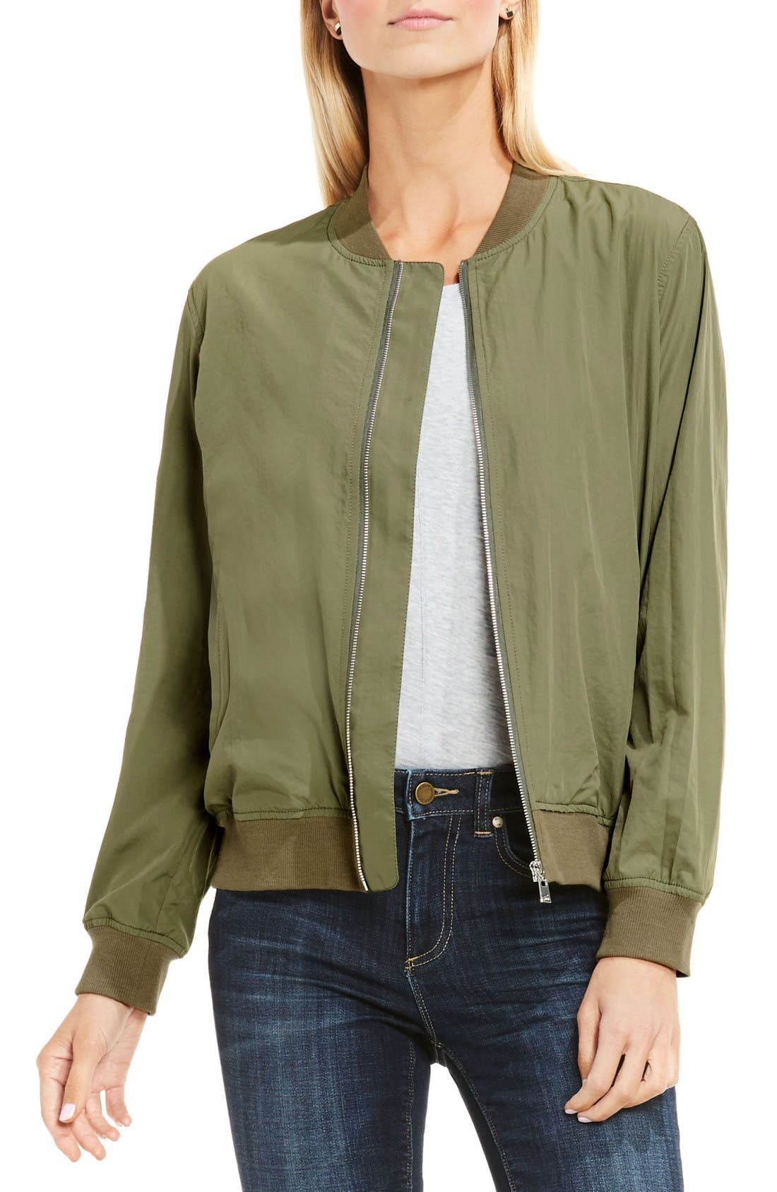 Main Image - Two by Vince Camuto Washed Bomber Jacket