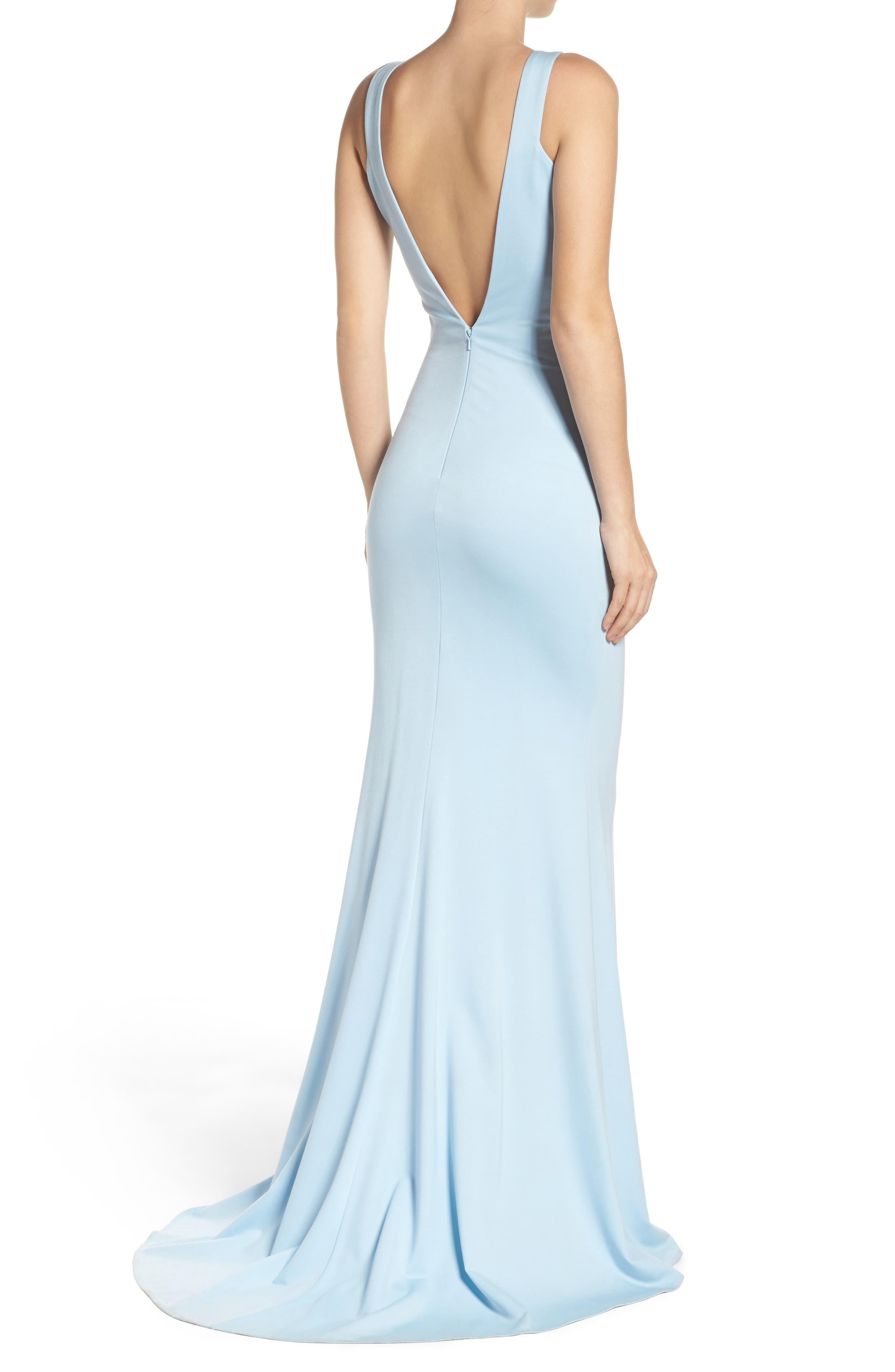 Alternate Image 2  - Mac Duggal Jewel Jersey Gown