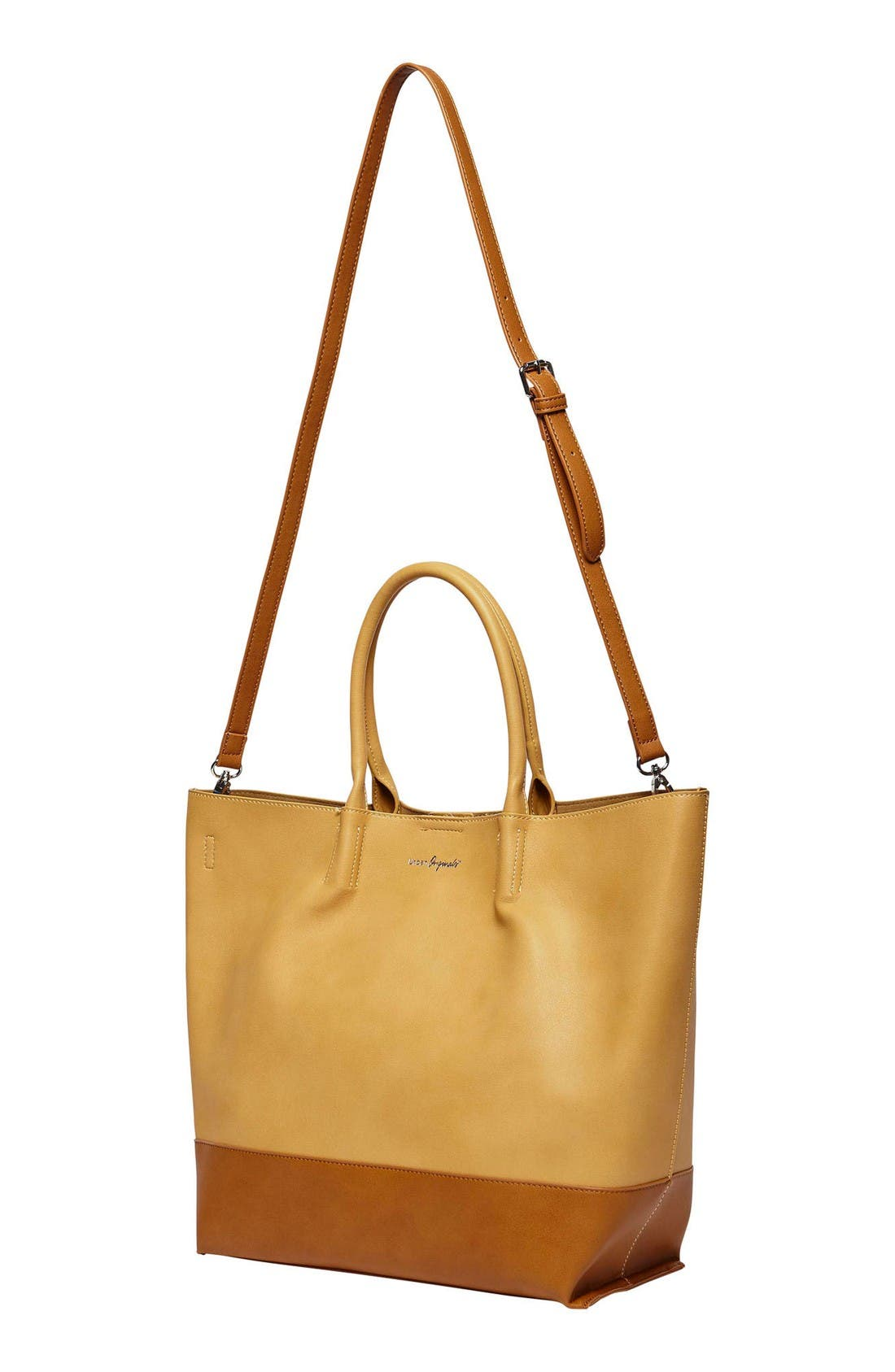Alternate Image 4  - Urban Originals Revenge Colorblock Faux Leather Tote
