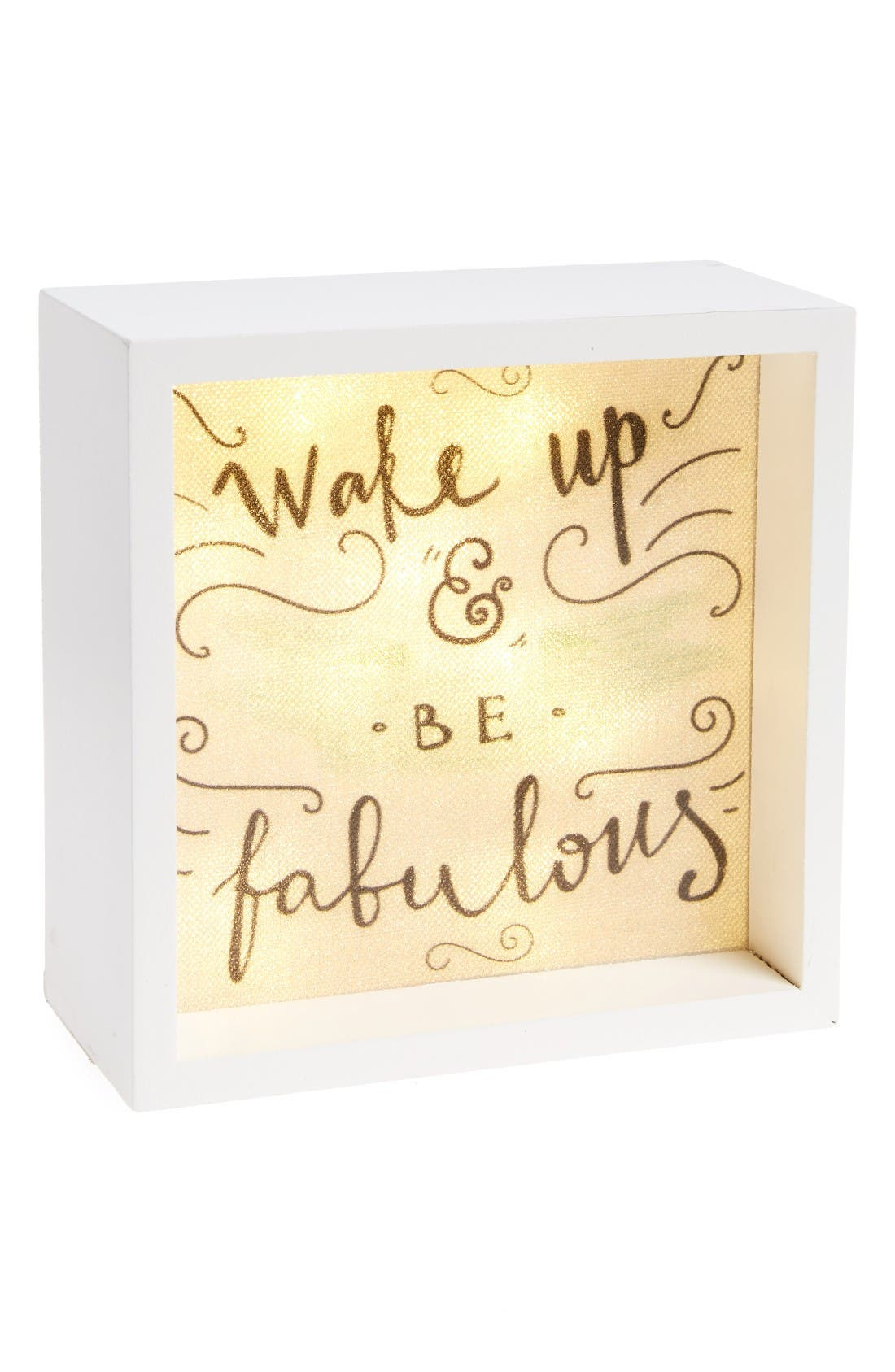 LIGHTBOXARTS Wake Up and be Fab Lighted Tabletop
