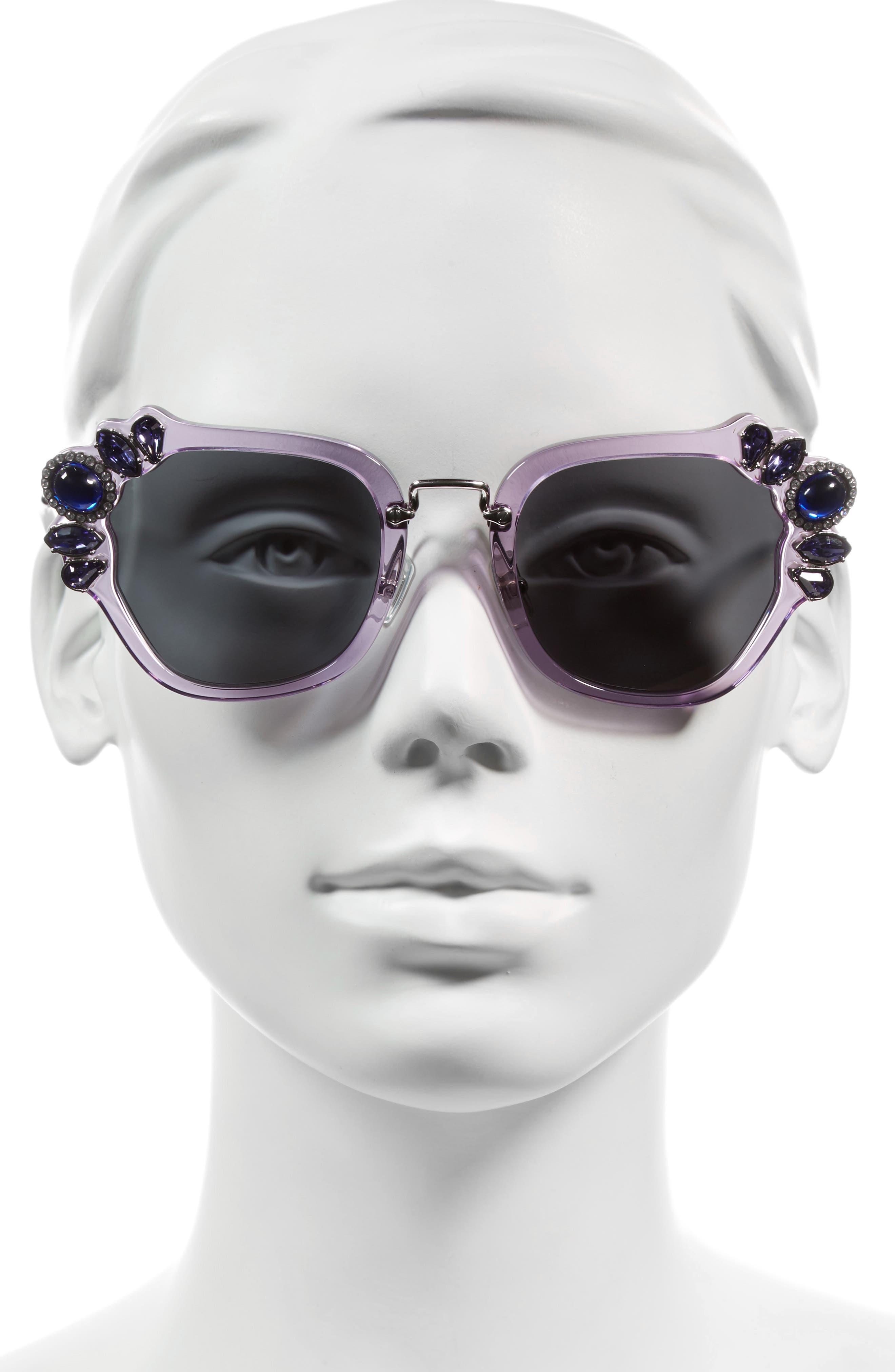 Alternate Image 2  - Miu Miu 51mm Embellished Sunglasses