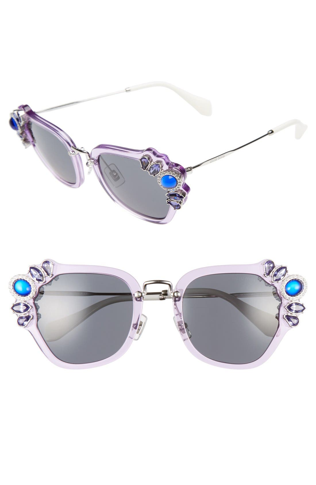 MIU MIU 51mm Embellished Sunglasses