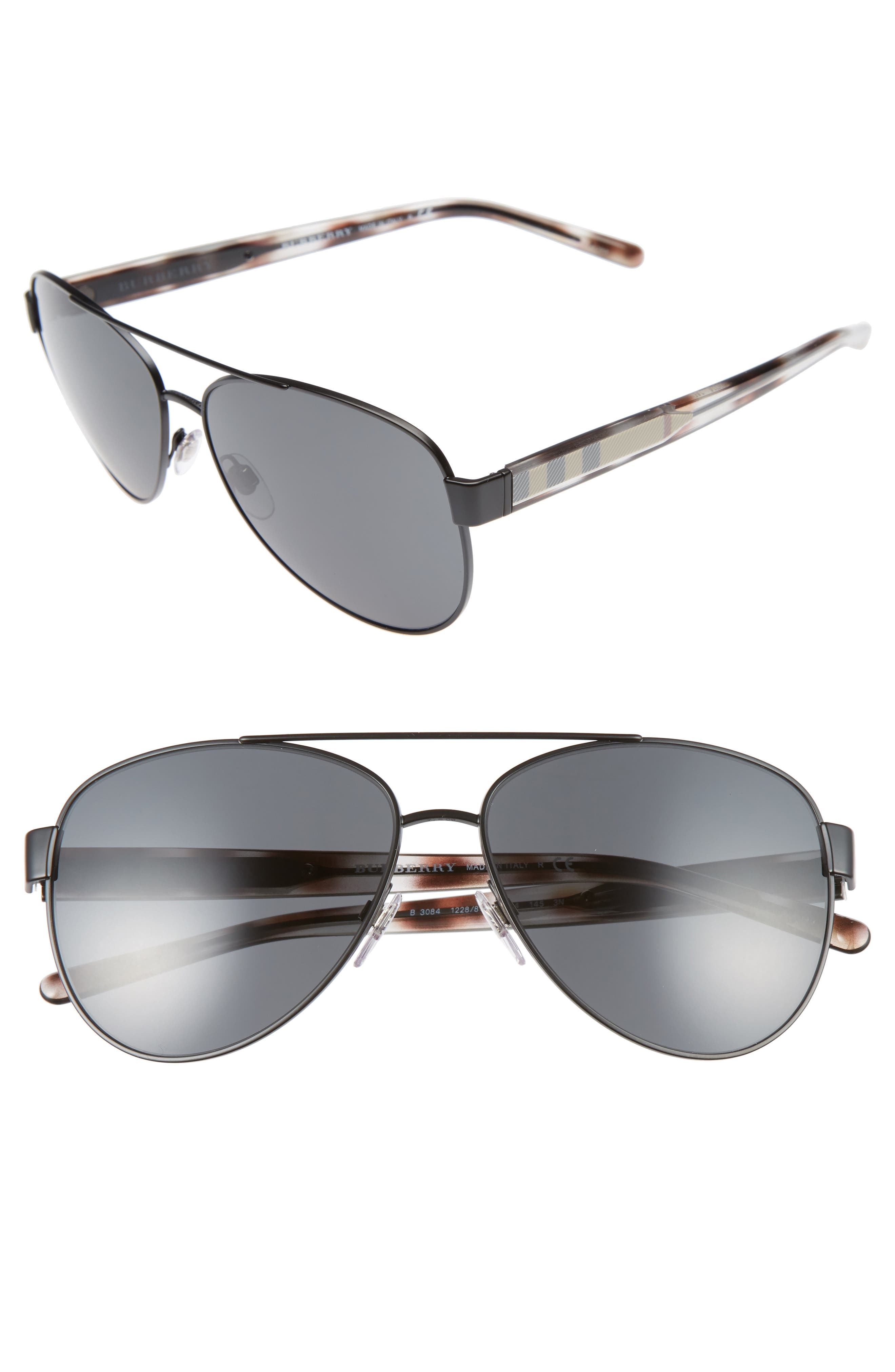 Burberry 60mm Aviator Sunglasses