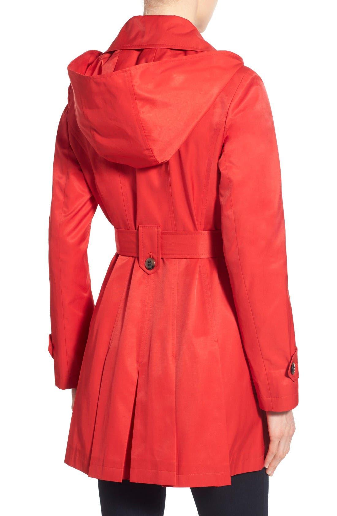 Alternate Image 3  - Via Spiga 'Scarpa' Hooded Single Breasted Trench Coat (Regular & Petite)