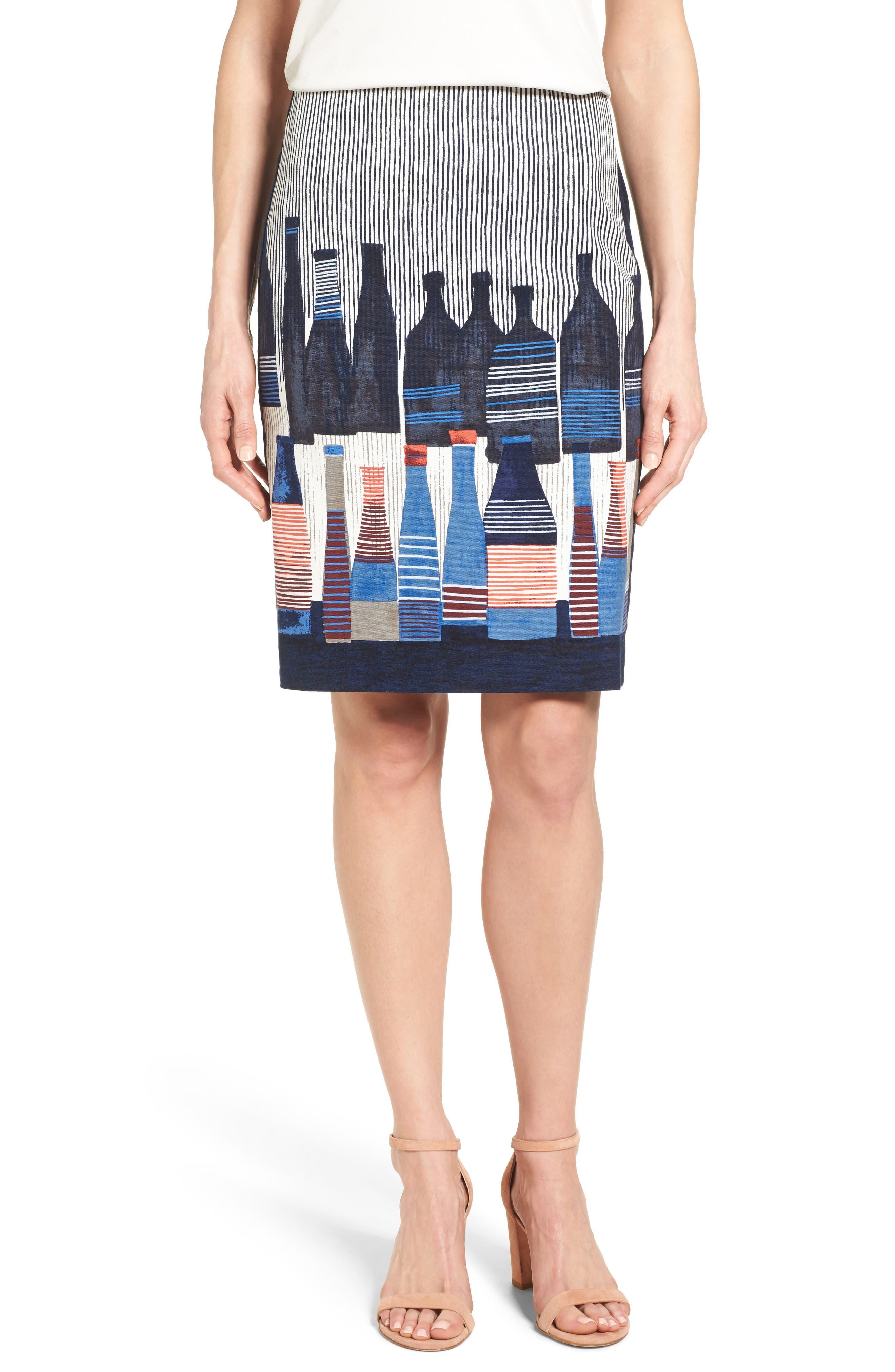Alternate Image 1 Selected - NIC+ZOE Spring Bottles Skirt (Regular & Petite)