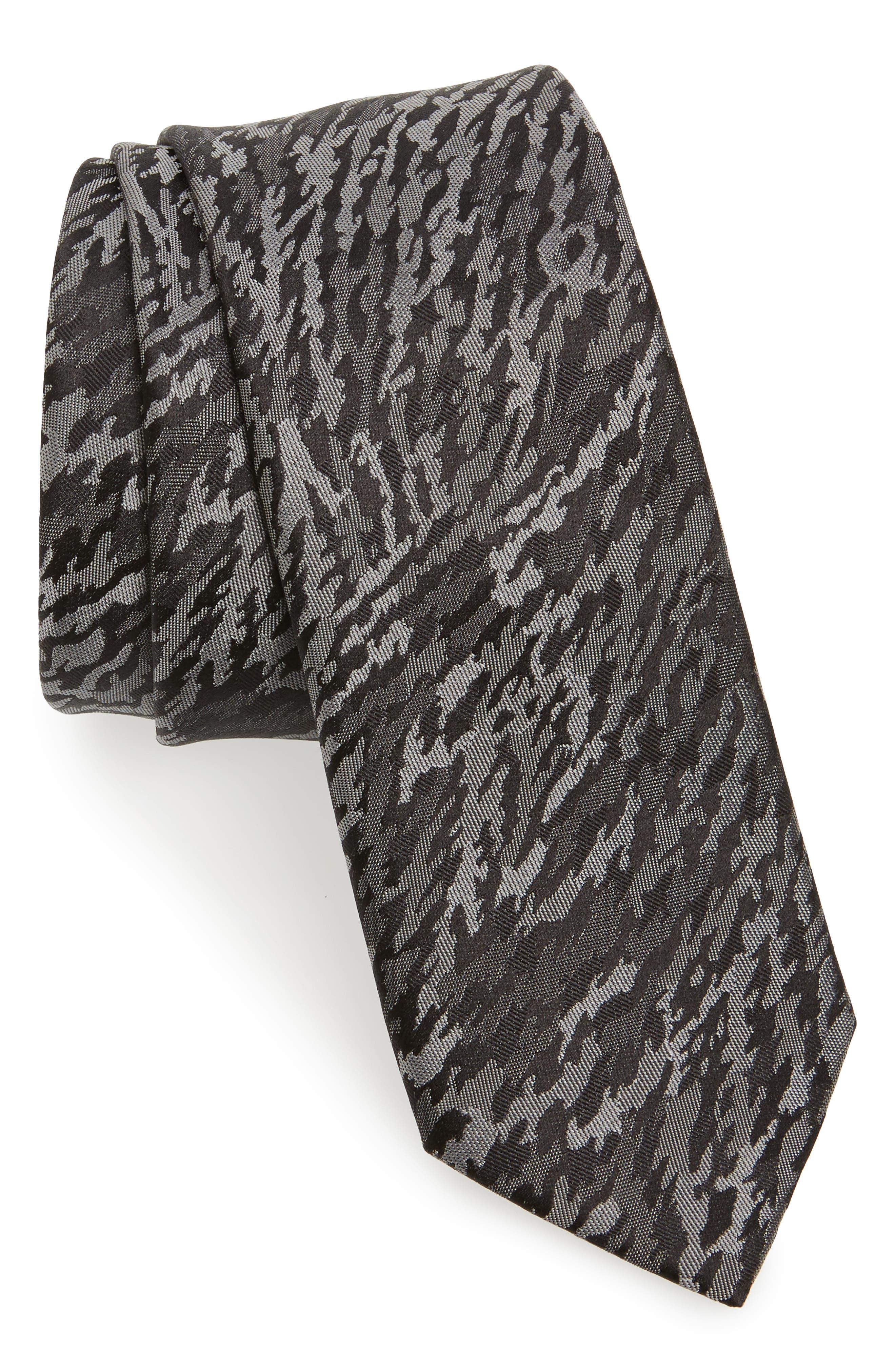 LANVIN Jacquard Silk Skinny Tie