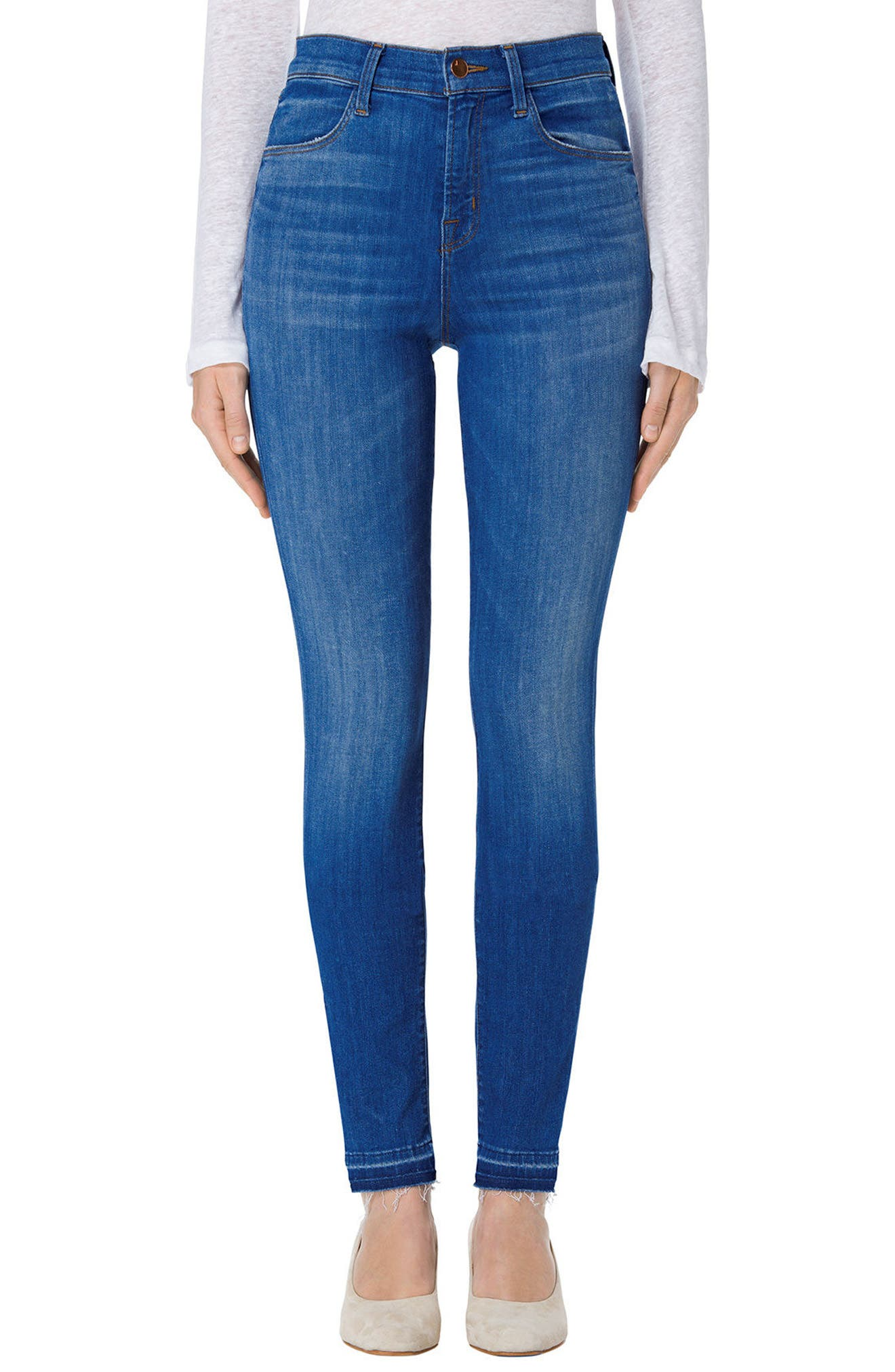 Alternate Image 1 Selected - J Brand Maria High Waist Skinny Jeans (Angelic)