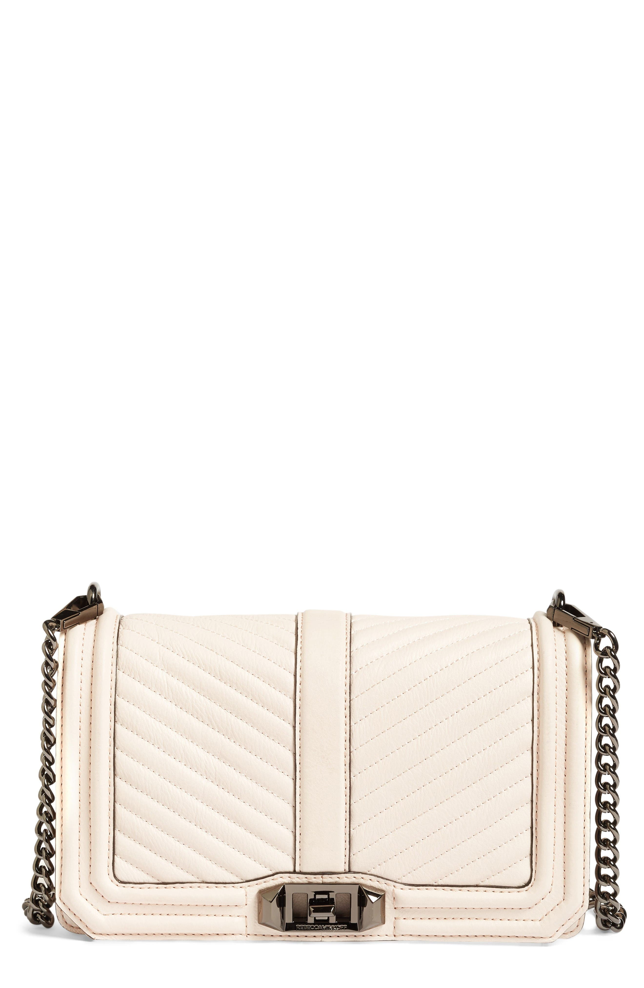 Alternate Image 1 Selected - Rebecca Minkoff 'Chevron Quilted Love' Crossbody Bag
