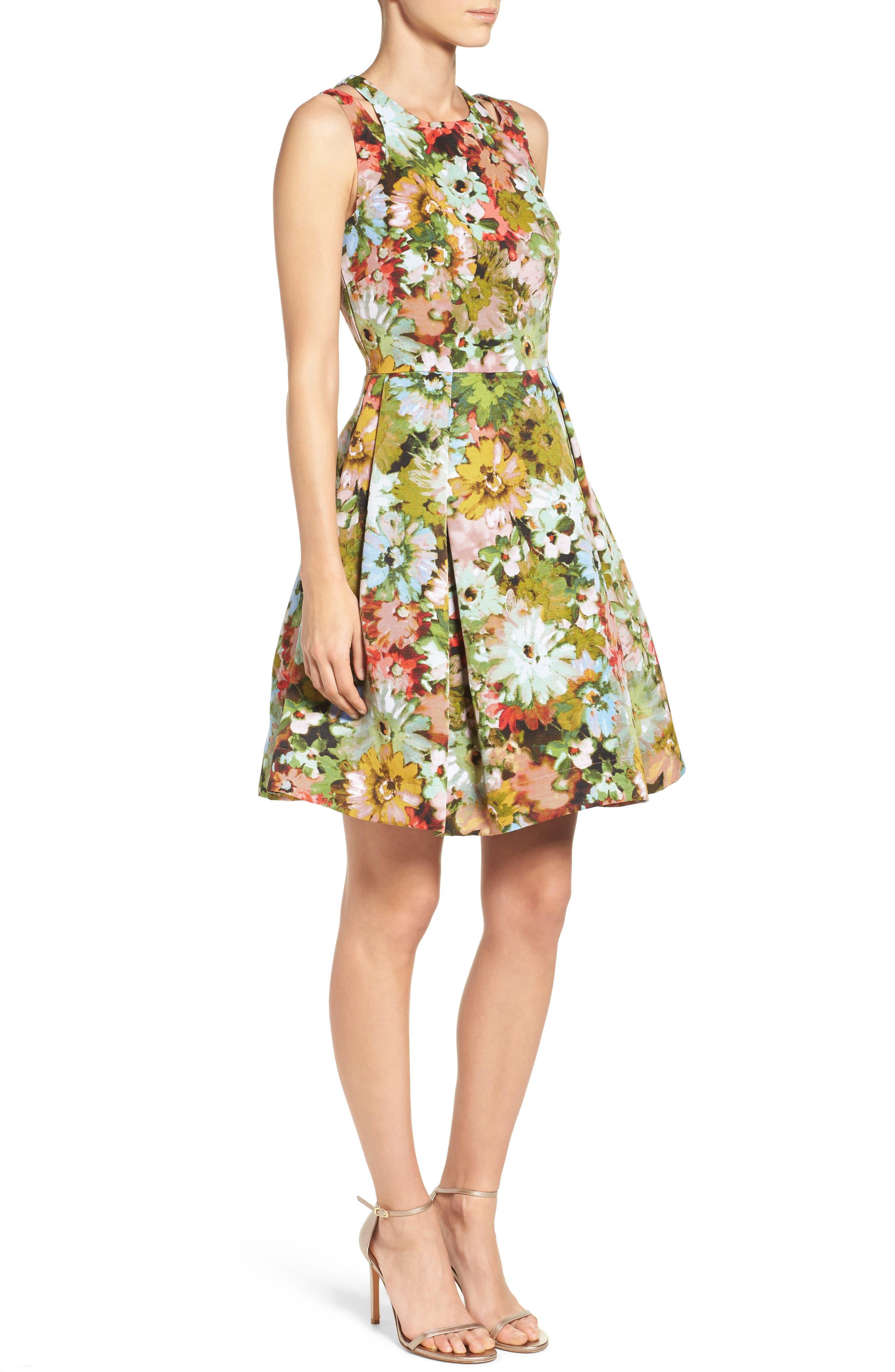 Alternate Image 3  - Taylor Dresses Vintage Floral Fit & Flare Dress