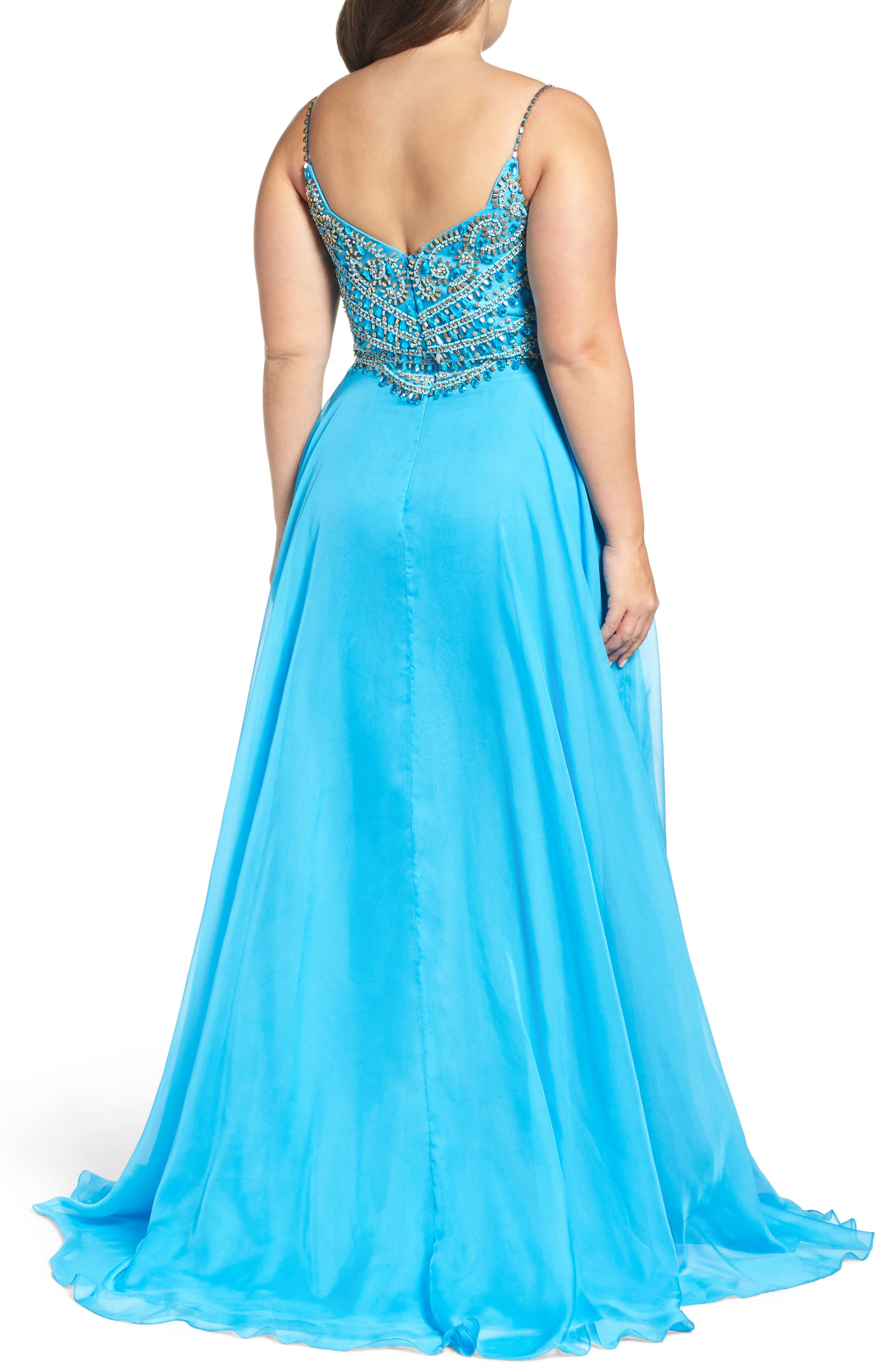Alternate Image 2  - Mac Duggal Embellished Gown (Plus Size)