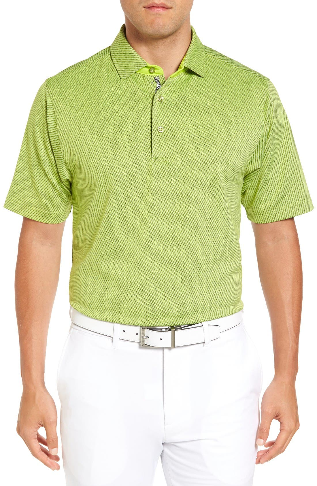 Bobby Jones XH20 Freckle Jacquard Stretch Golf Polo