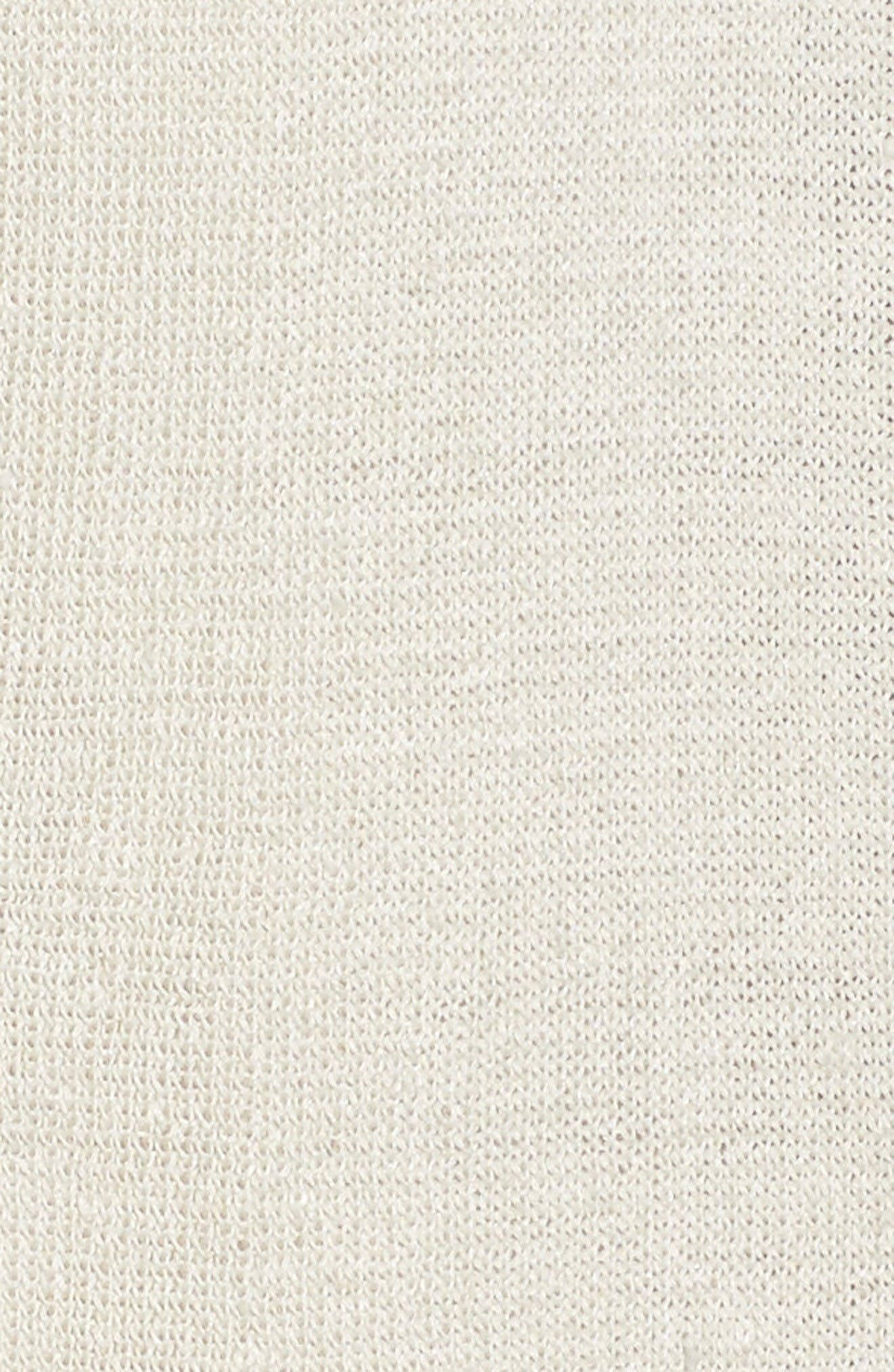 Alternate Image 5  - Eileen Fisher Shaped Organic Linen Blend Cardigan (Regular & Petite)