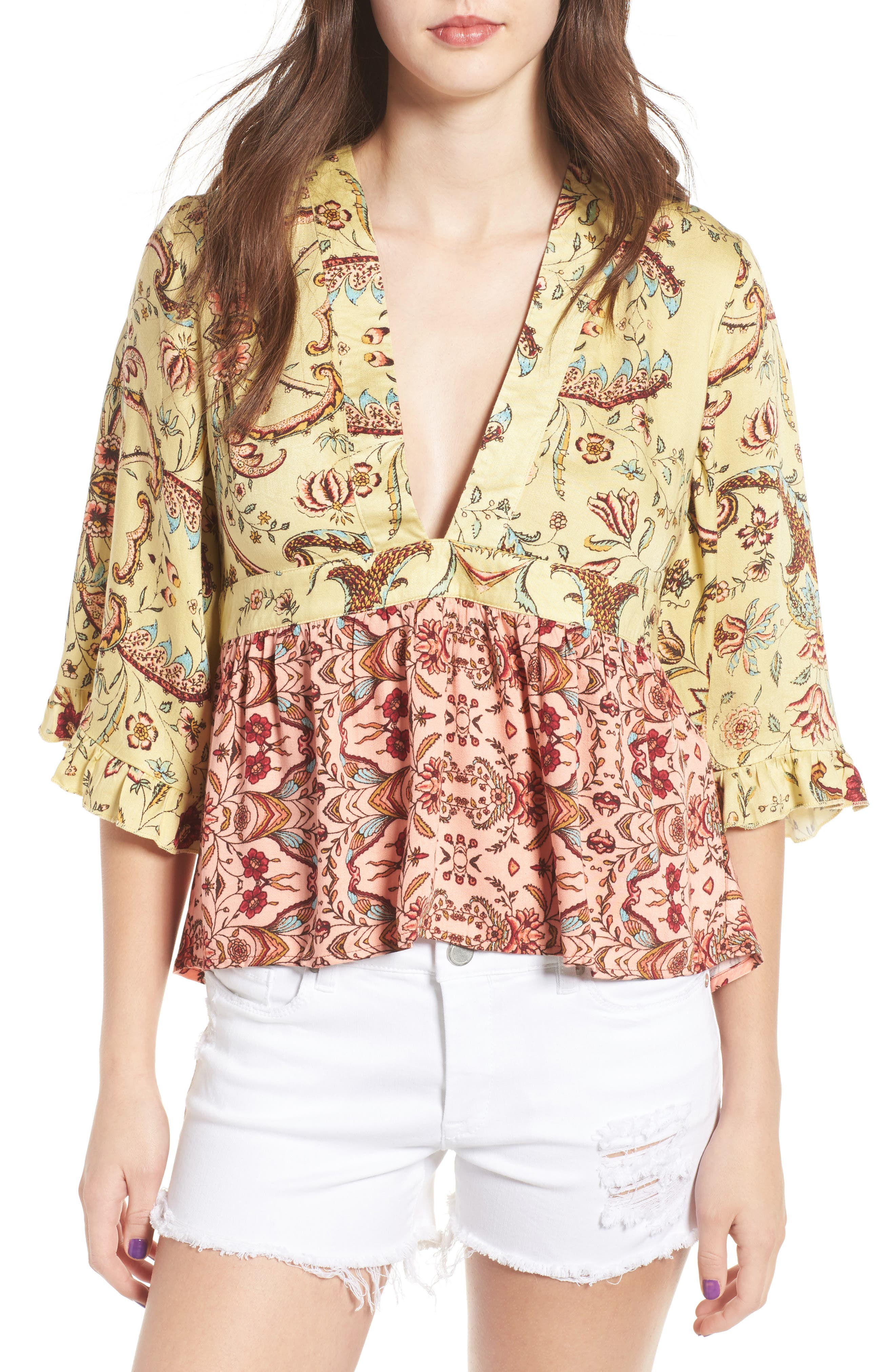 Alternate Image 1 Selected - Somedays Lovin Sounds of Heart Kimono Top