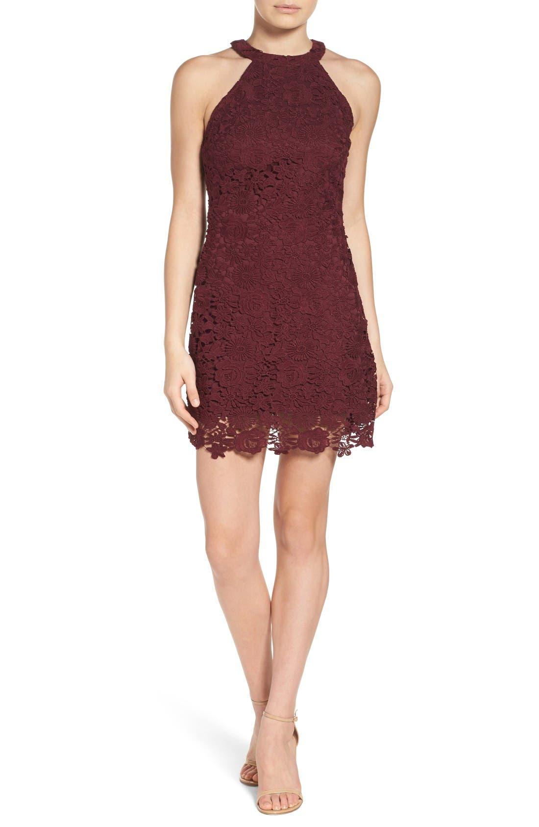 Alternate Image 5  - Lulus Lace Halter Dress
