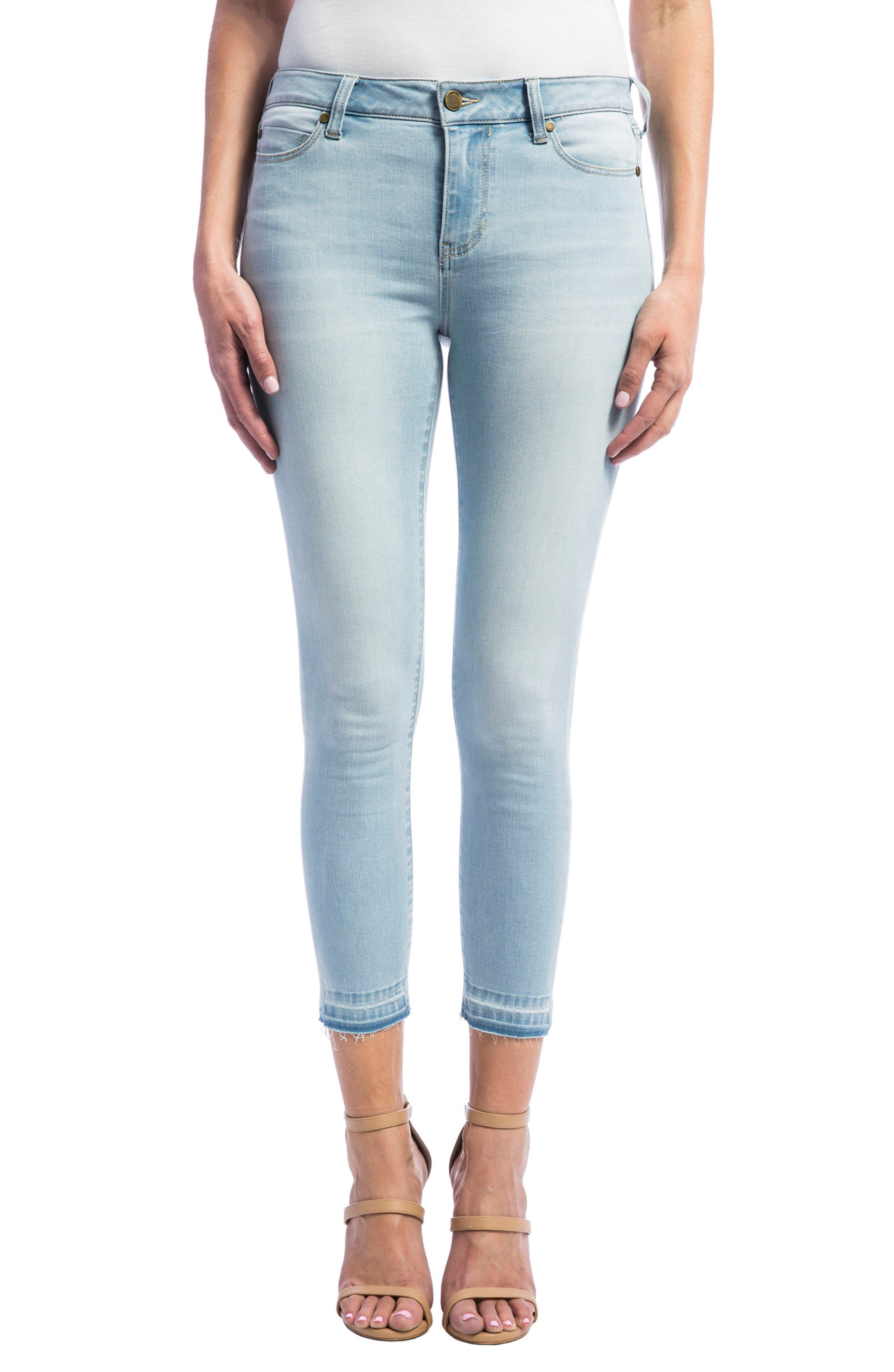 Liverpool Jeans Company The Crop Release Hem Skinny Jeans