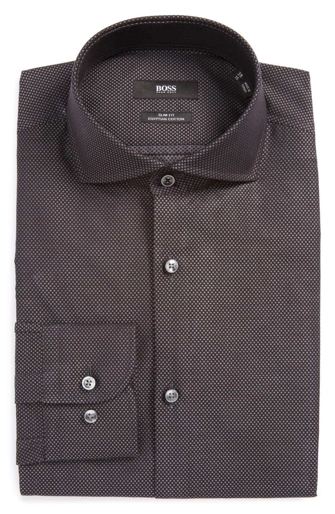 BOSS Jerrin Slim Fit Print Dress Shirt