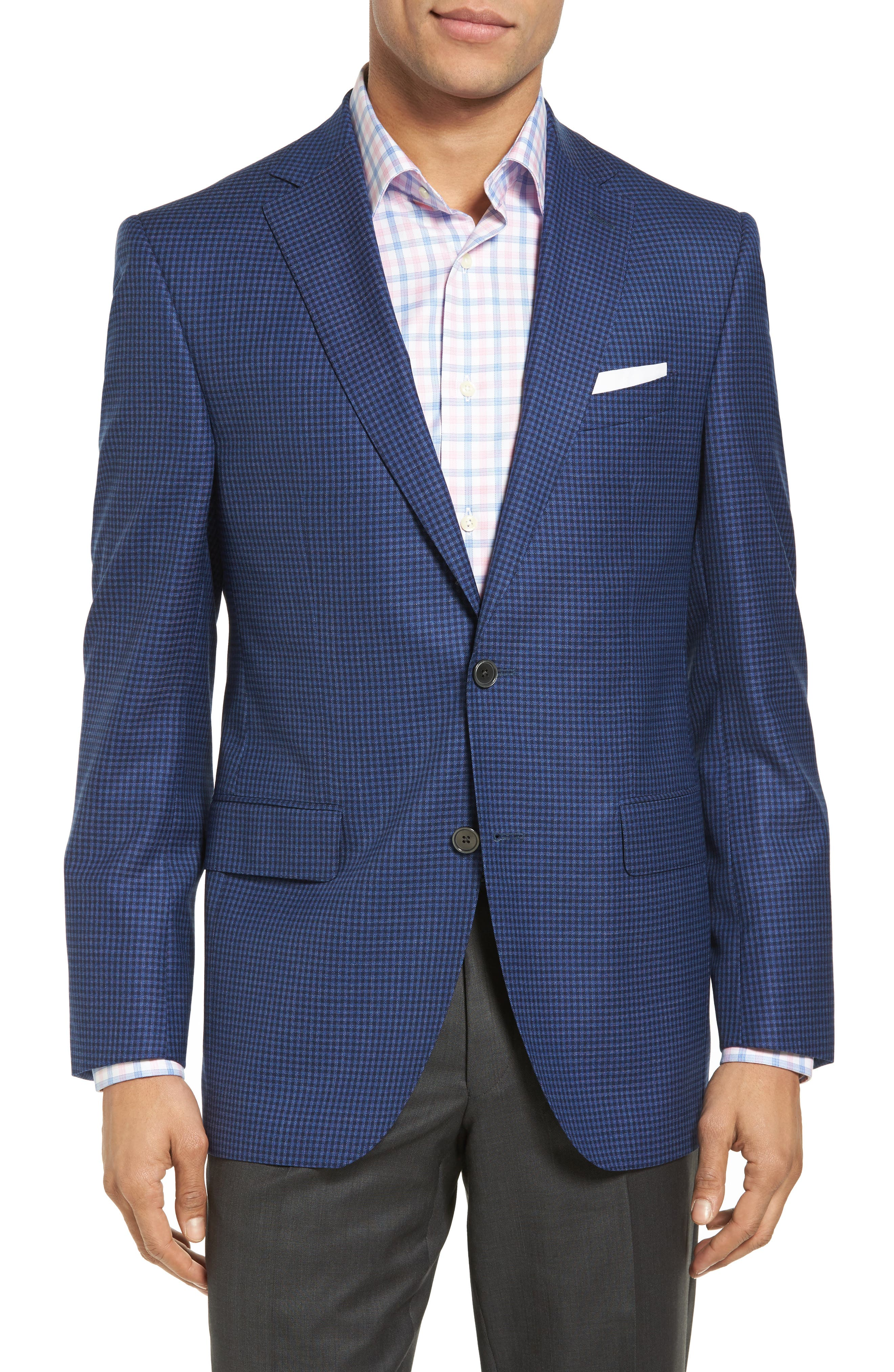 DAVID DONAHUE Connor Classic Fit Check Wool Sport