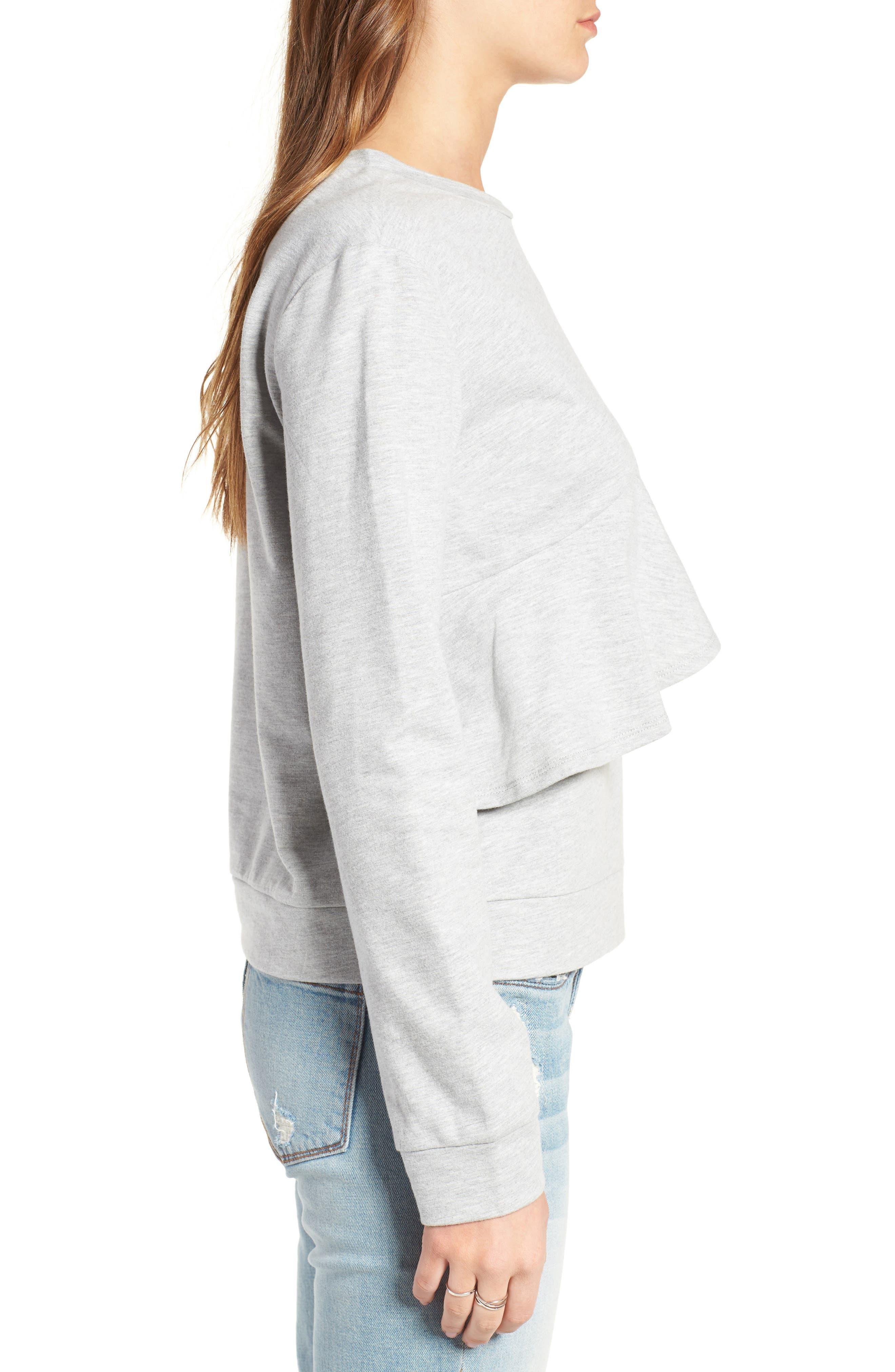 Alternate Image 3  - Love, Fire Ruffle Front Sweatshirt