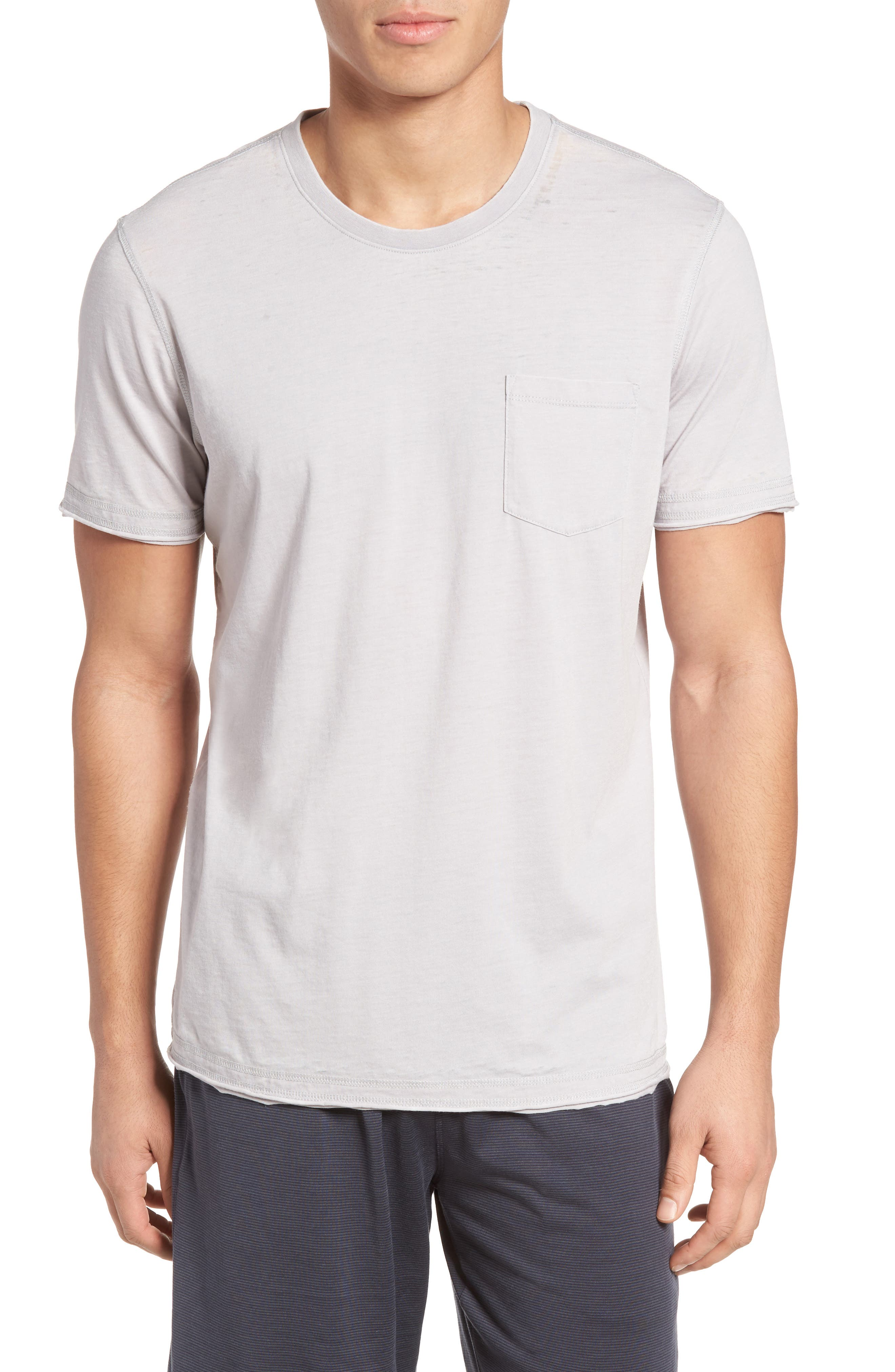 Daniel Buchler Burnout Cotton Blend Crewneck T-Shirt