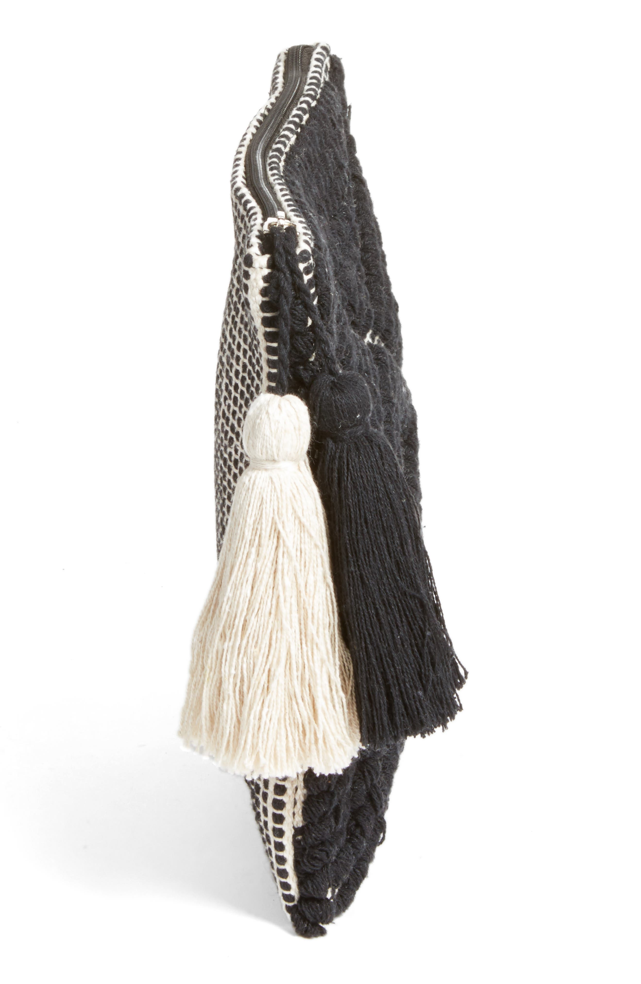 Alternate Image 3  - Sole Society Palisades Tasseled Woven Clutch