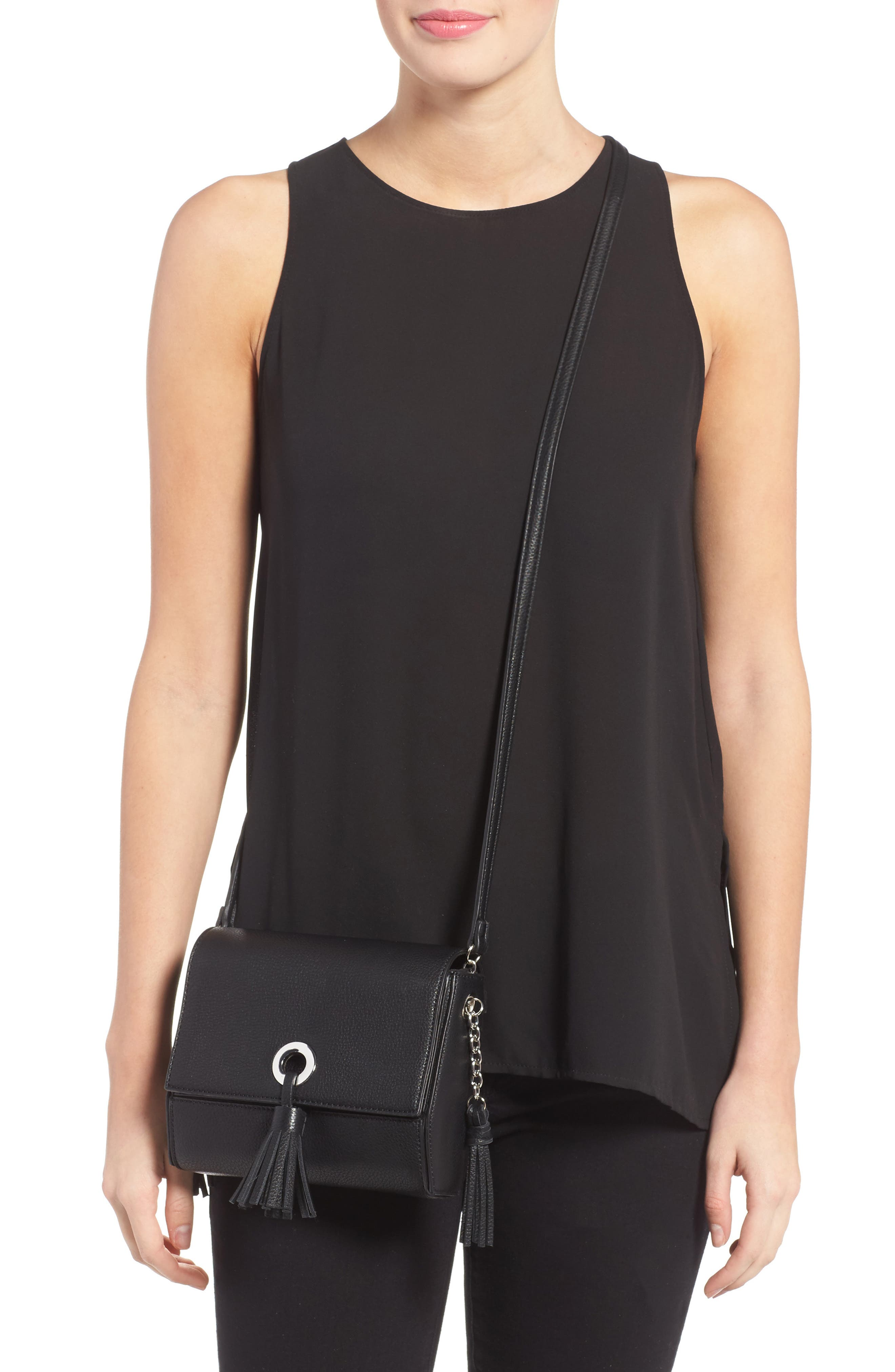 Alternate Image 6  - Street Level Convertible Faux Leather Crossbody Bag