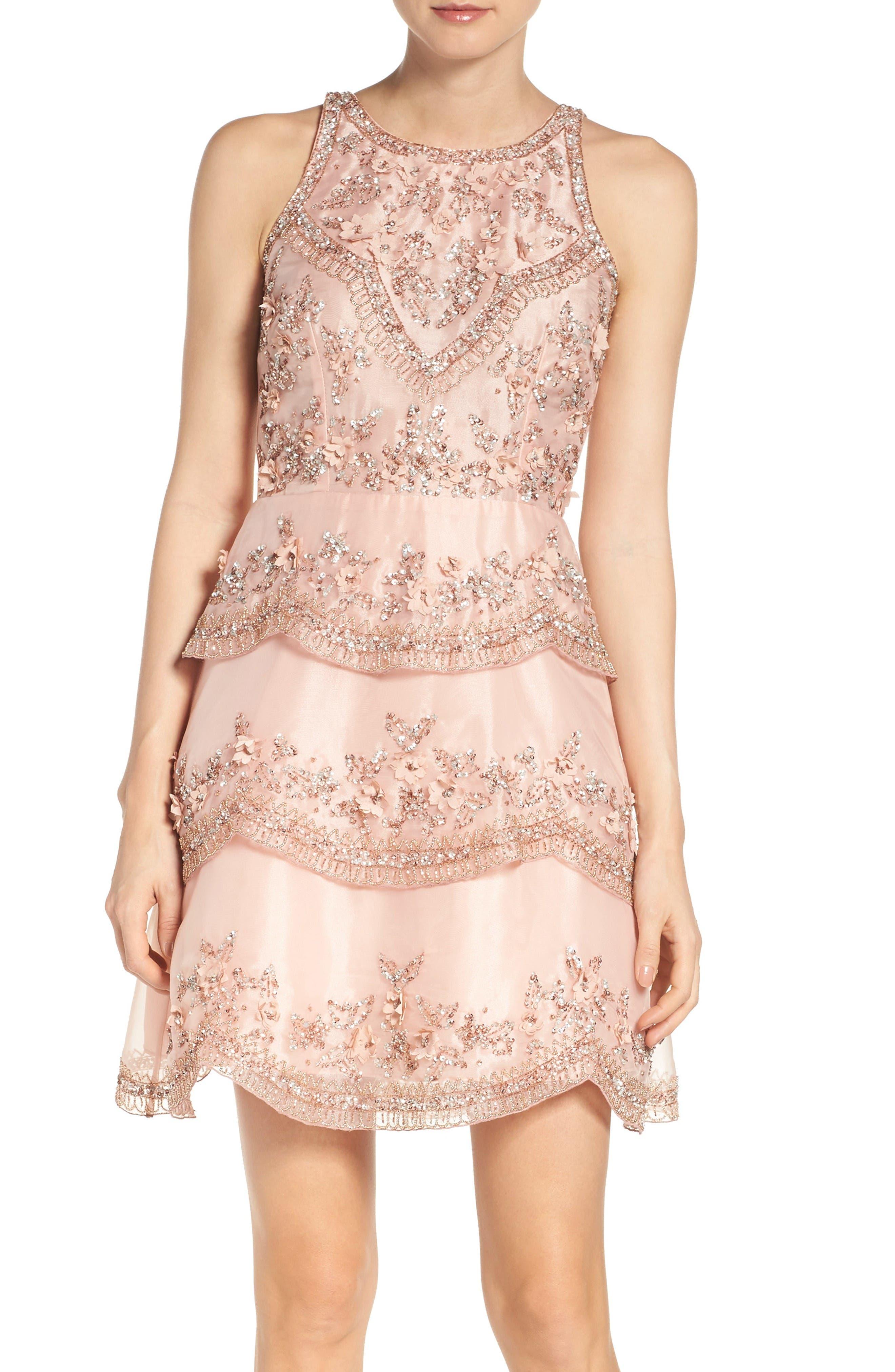 Main Image - Adrianna Papell Scallop Dress