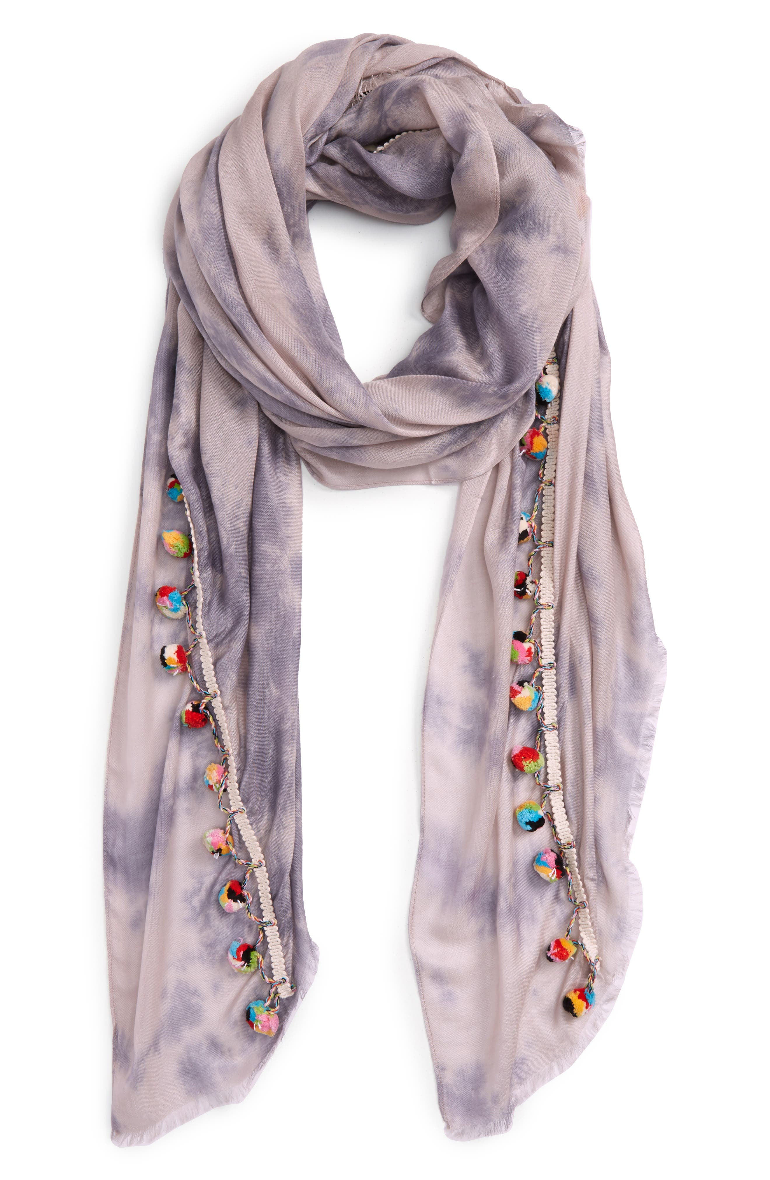 Alternate Image 1 Selected - Lulla Collection by Bindya Pom Pom Trim Scarf